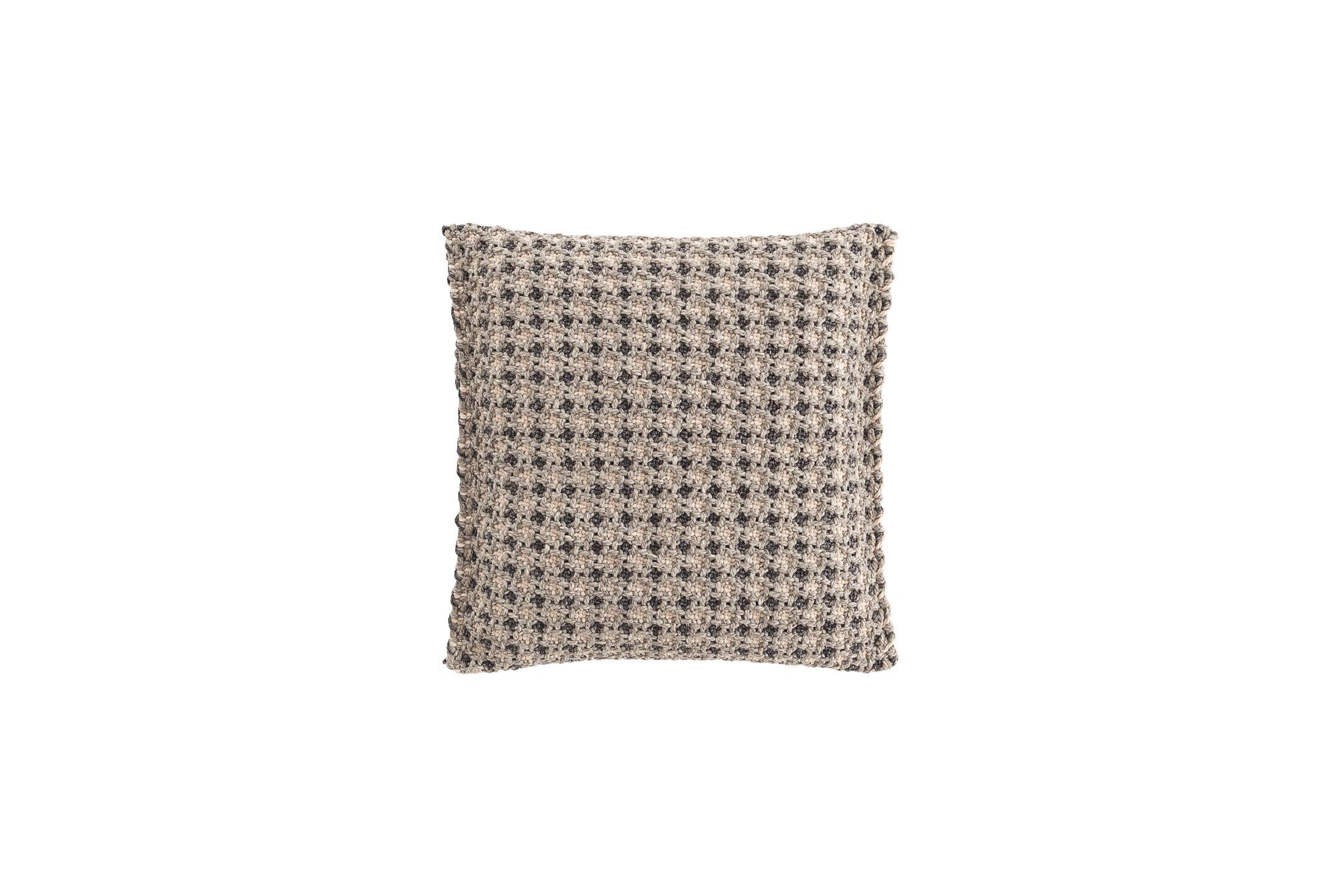 Garden Layers Gofre Outdoor Throw Pillow Color: Terracotta