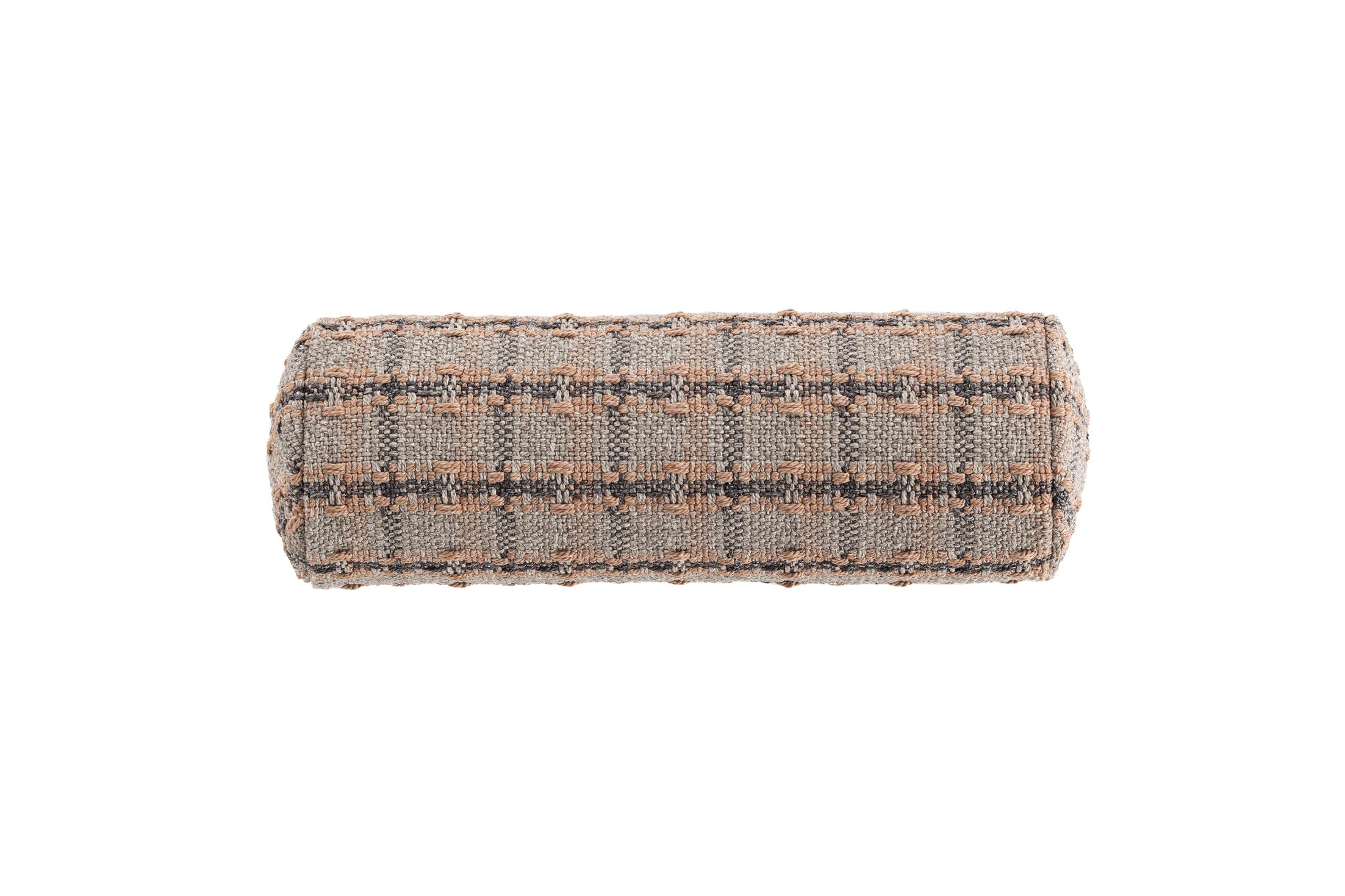 Garden Layers Checks Outdoor Bolster Color: Terracotta