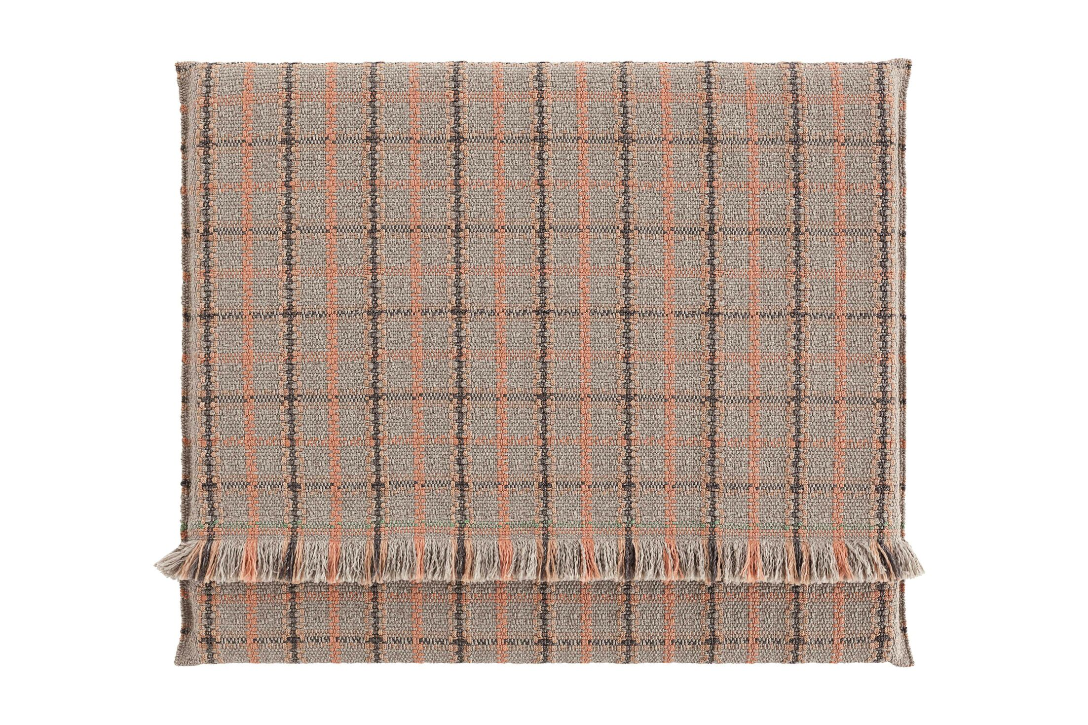 Garden Layers Tartan Outdoor Floor Pillow Color: Terracotta