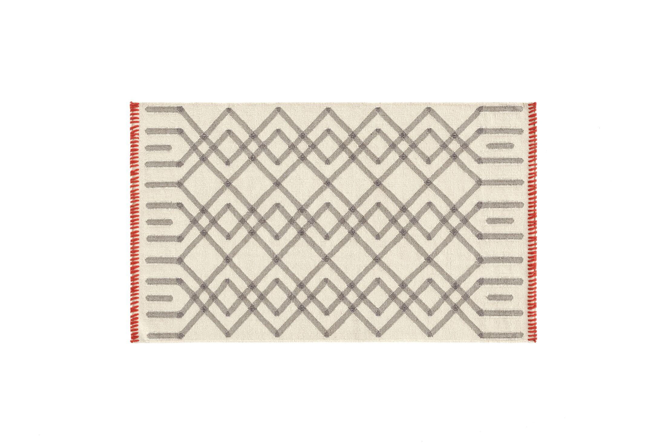 Duna Handmade Kilim Wool Gris Area Rug Rug Size: Rectangle 2'8