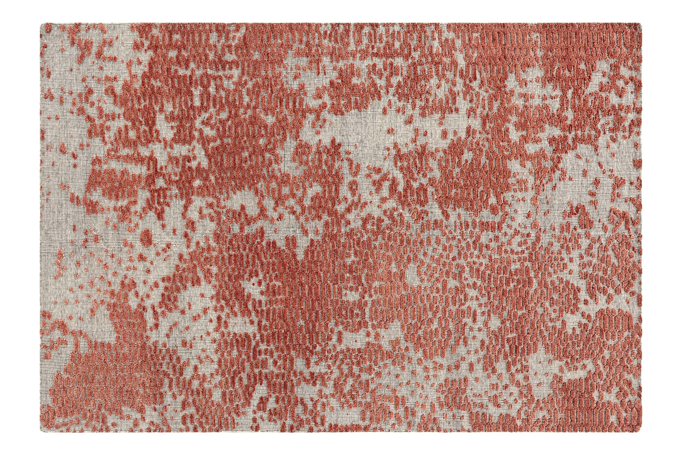 Japan Hand Knotted Wool Coral Area Rug Rug Size: Rectangle 6'8