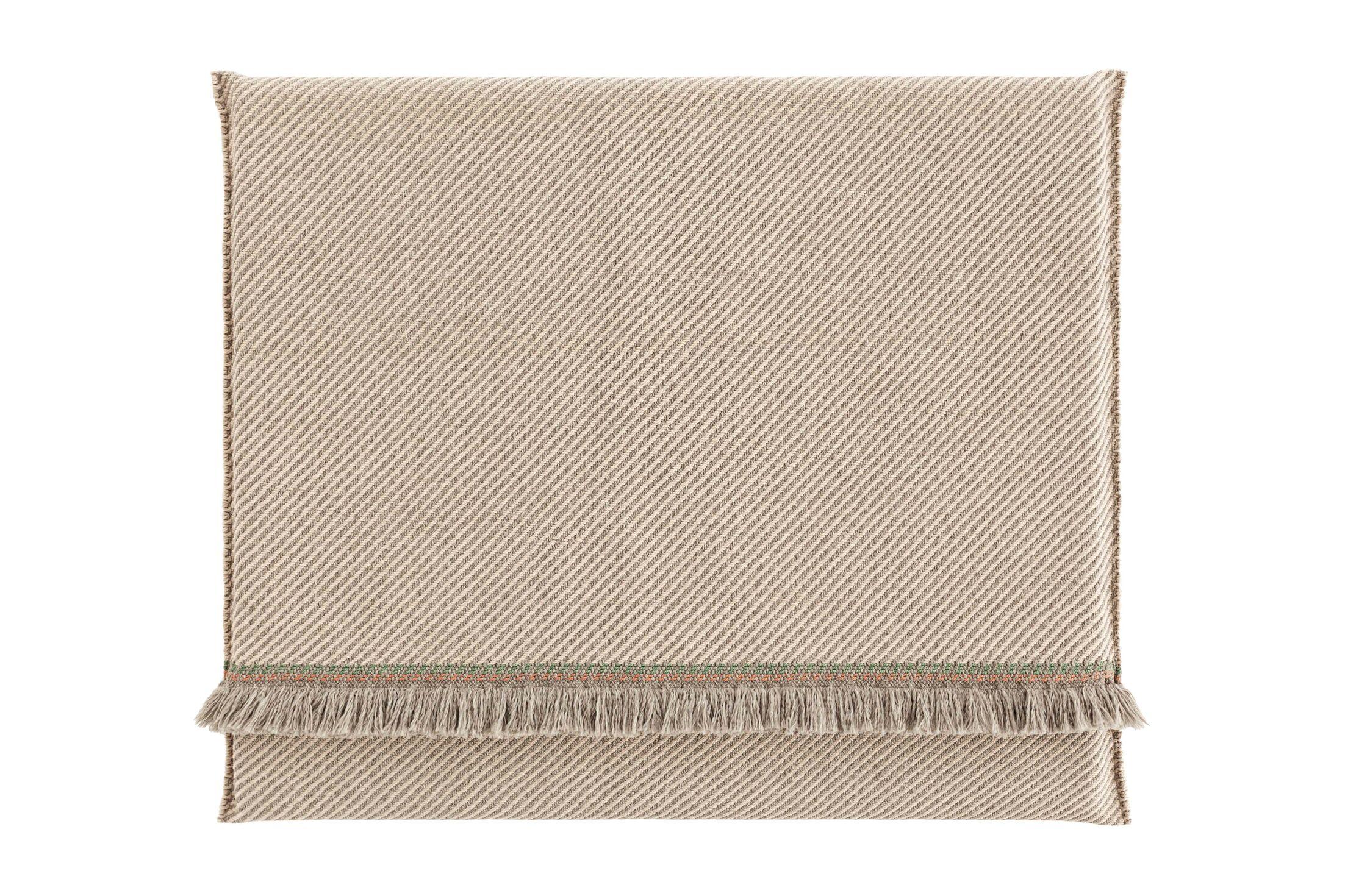 Garden Layers Diagonal Outdoor Floor Pillow Color: Almond/Ivory