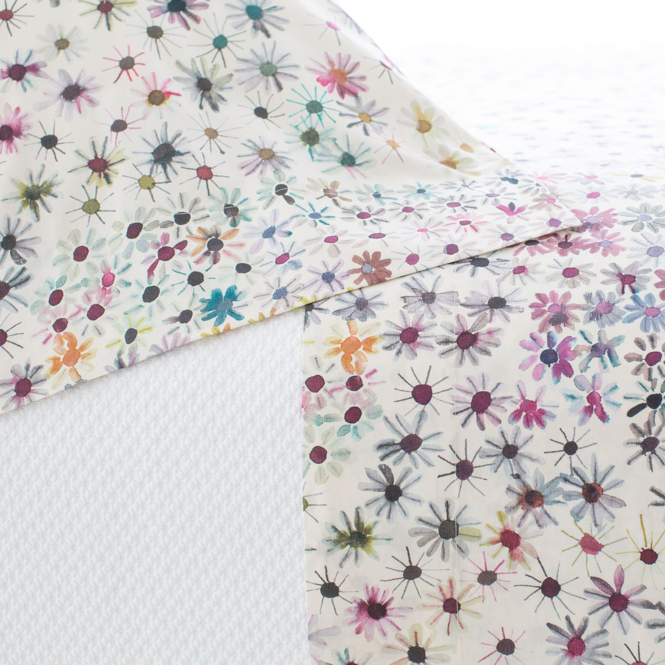 Wallflower 200 Thread Count 100% Cotton Sheet Set Size: Twin