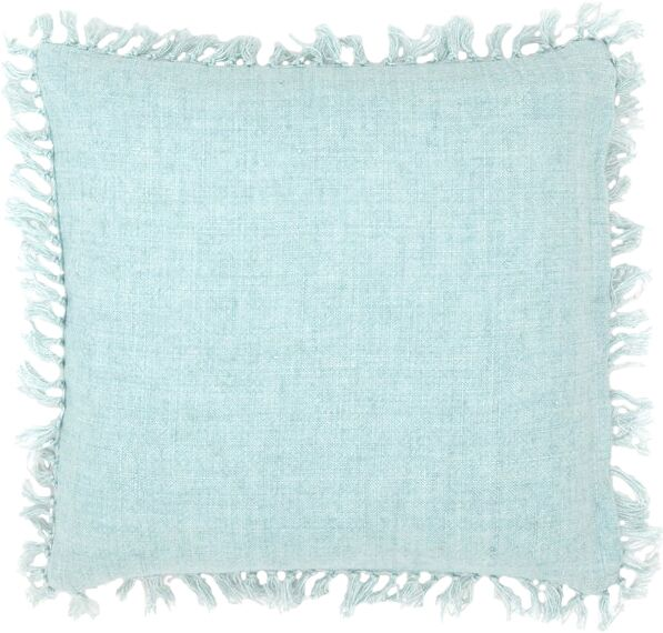 Laundered Linen Throw Pillow Color: Sky