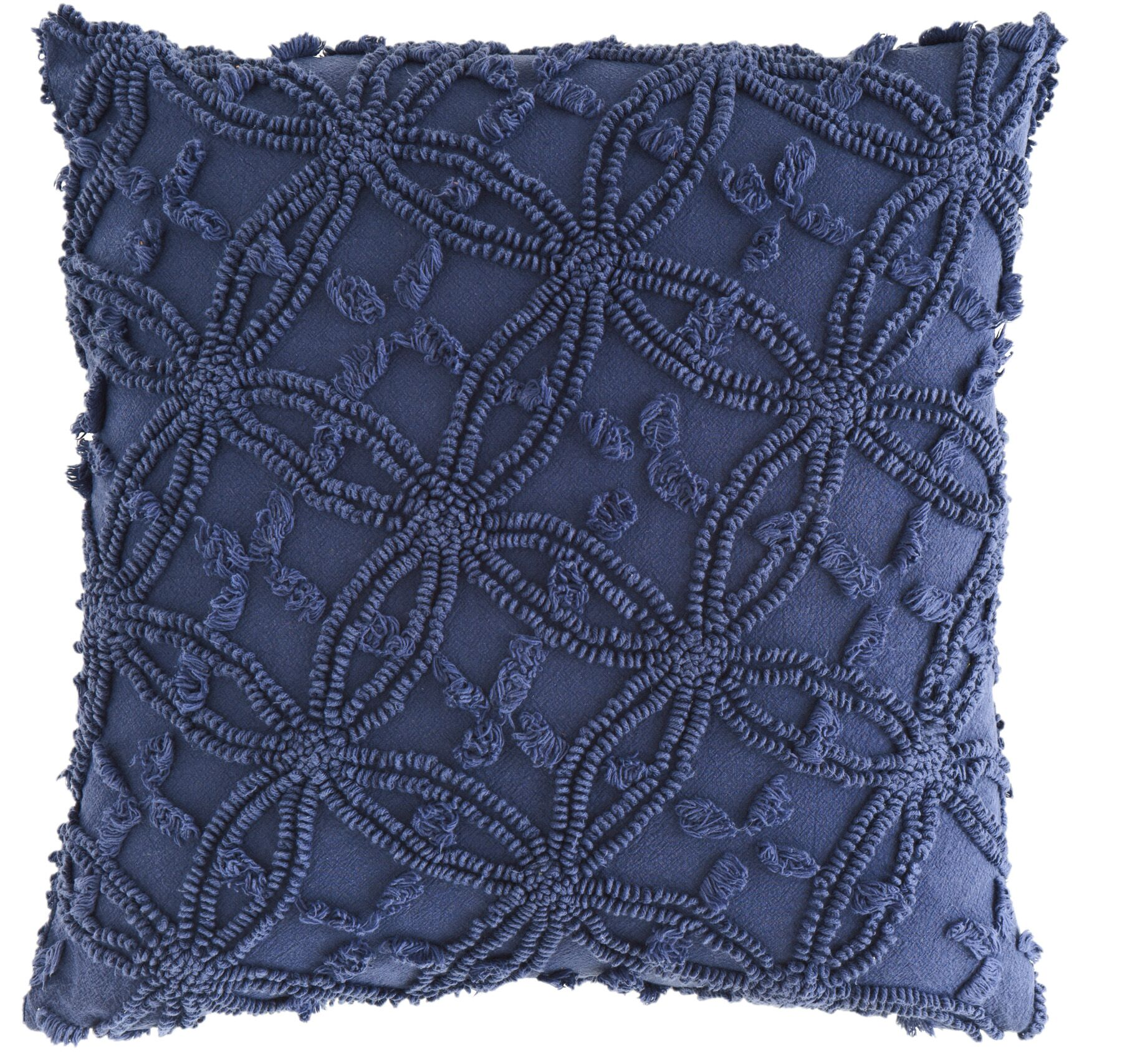 Candlewick Cotton Throw Pillow Size: 18