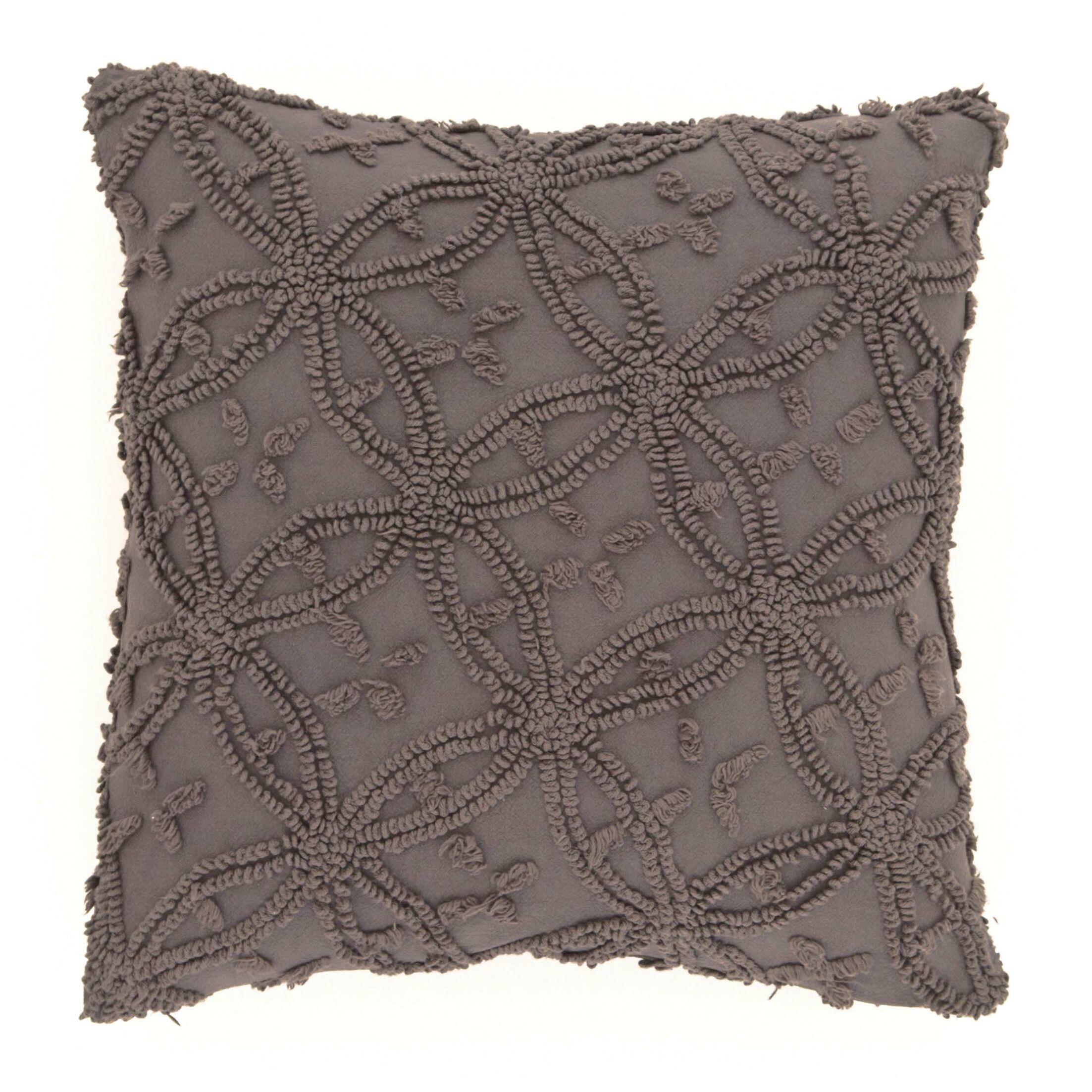 Candlewick Cotton Throw Pillow Size: 26