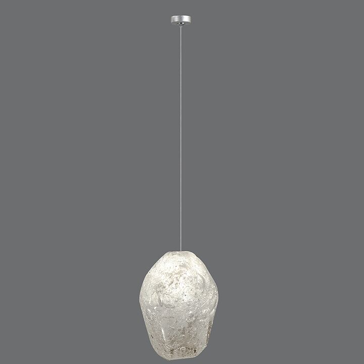 Natural Inspirations 1-Light Novelty Pendant Finish: Platinized Silver, Shade Color: Clear