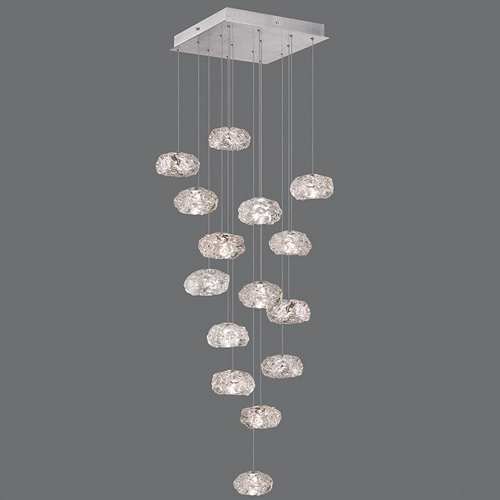 Natural Inspirations 15-Light Cluster Pendant Finish: Platinized Silver