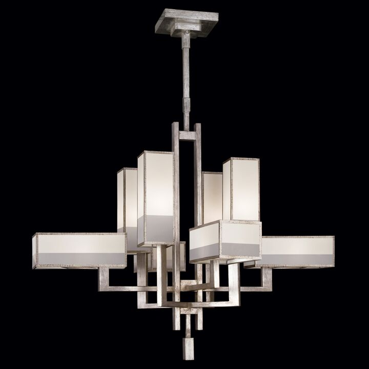 Perspectives 8-Light Shaded Chandelier Finish: Silver