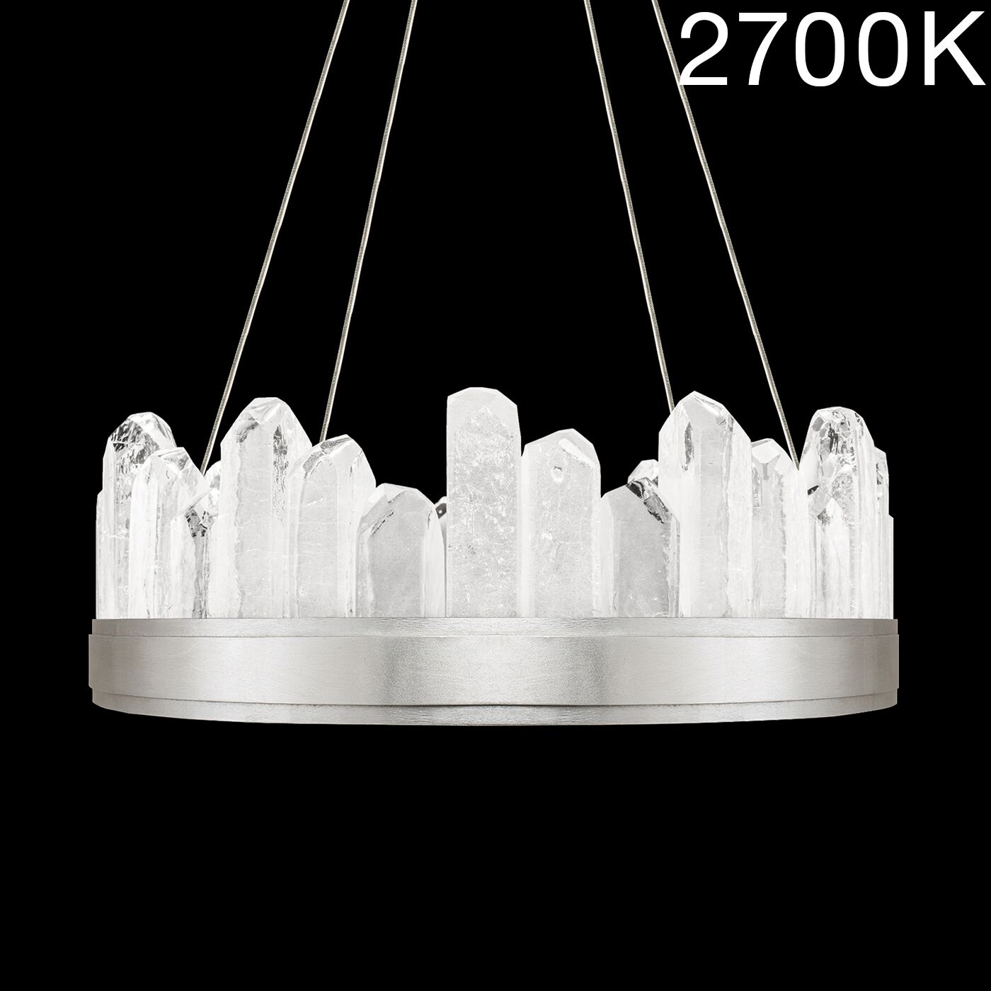 Lior Rock 12-Light Drum Chandelier Finish: Silver, Color Temperature: 2700