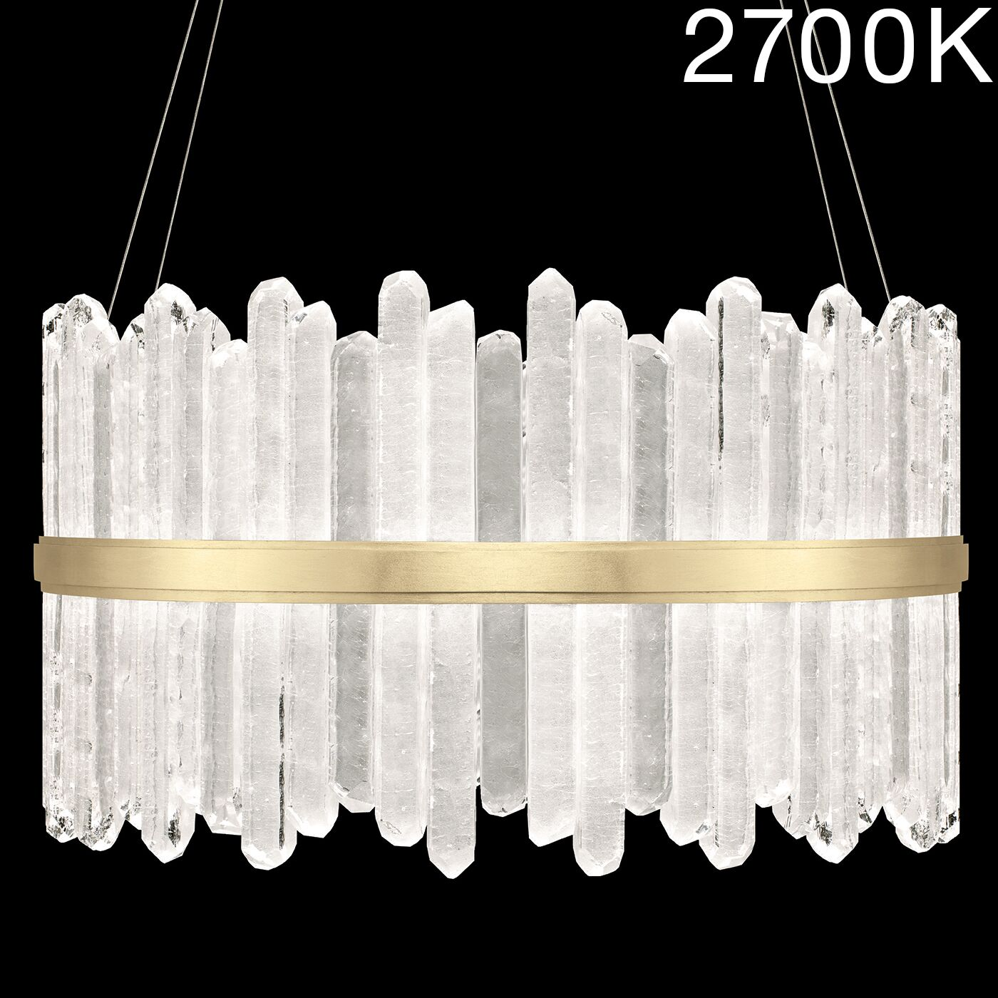 Lior Rock 48-Light Drum Chandelier Color Temperature: 2700, Finish: Gold