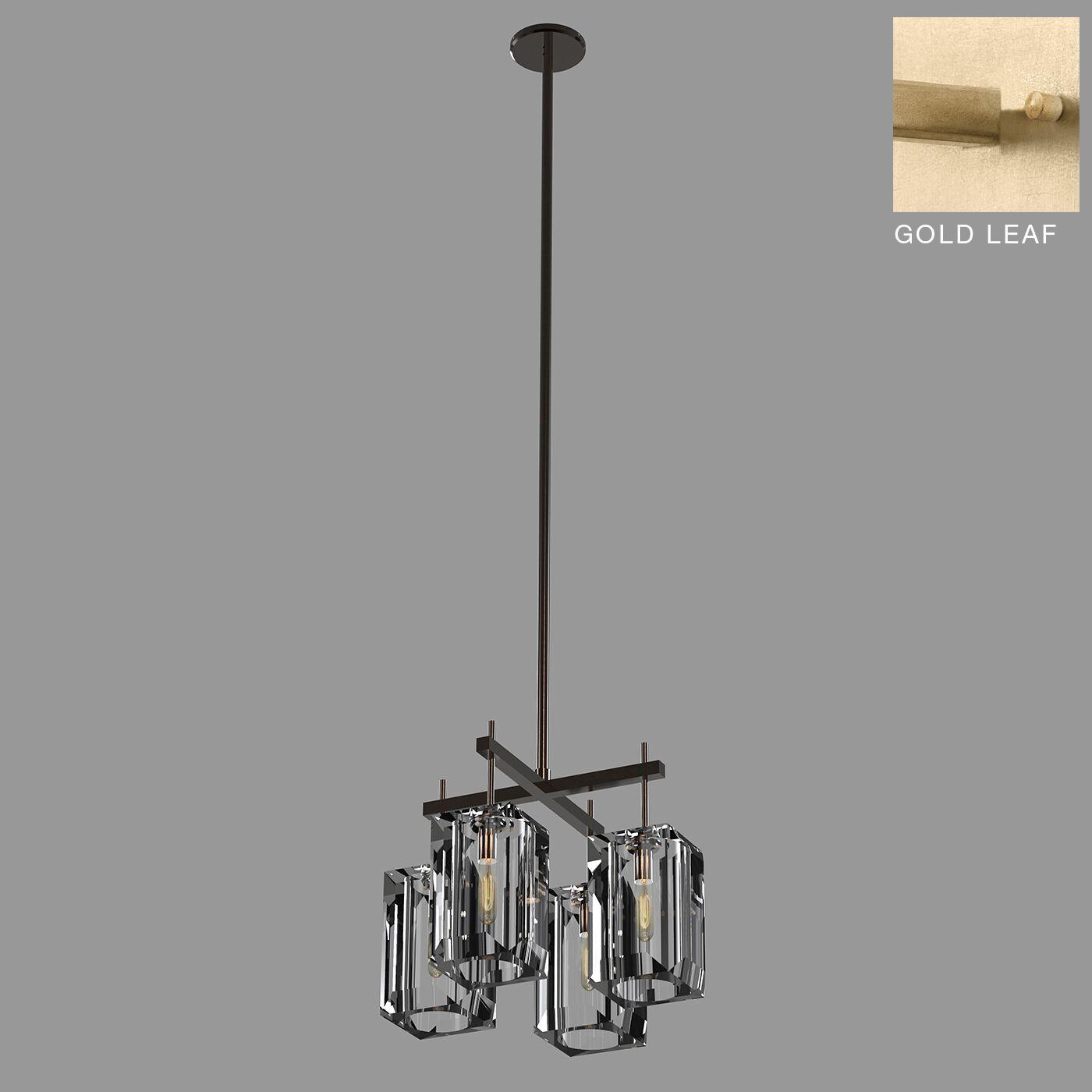Monceau 4-Light Kitchen Island Pendant Size: 14.25