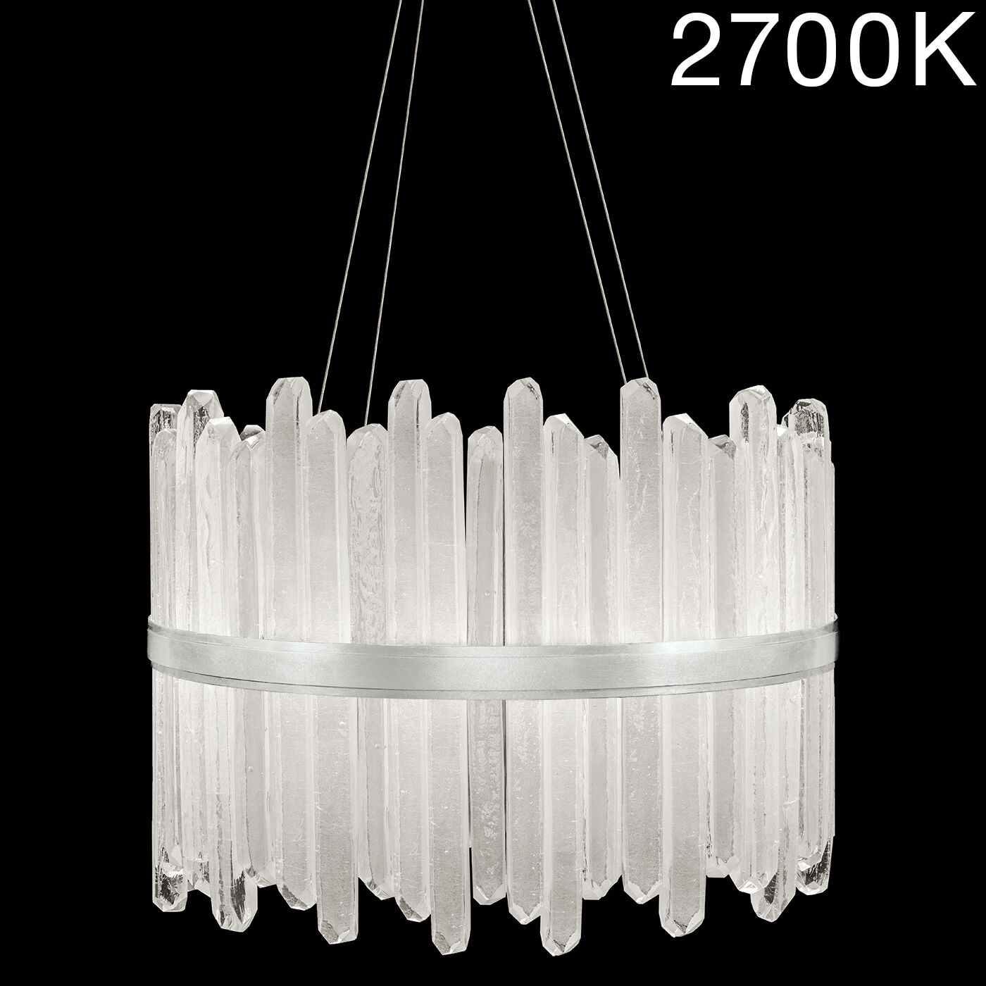 Lior Rock 40-Light Drum Chandelier Color Temperature: 3000, Finish: Gold
