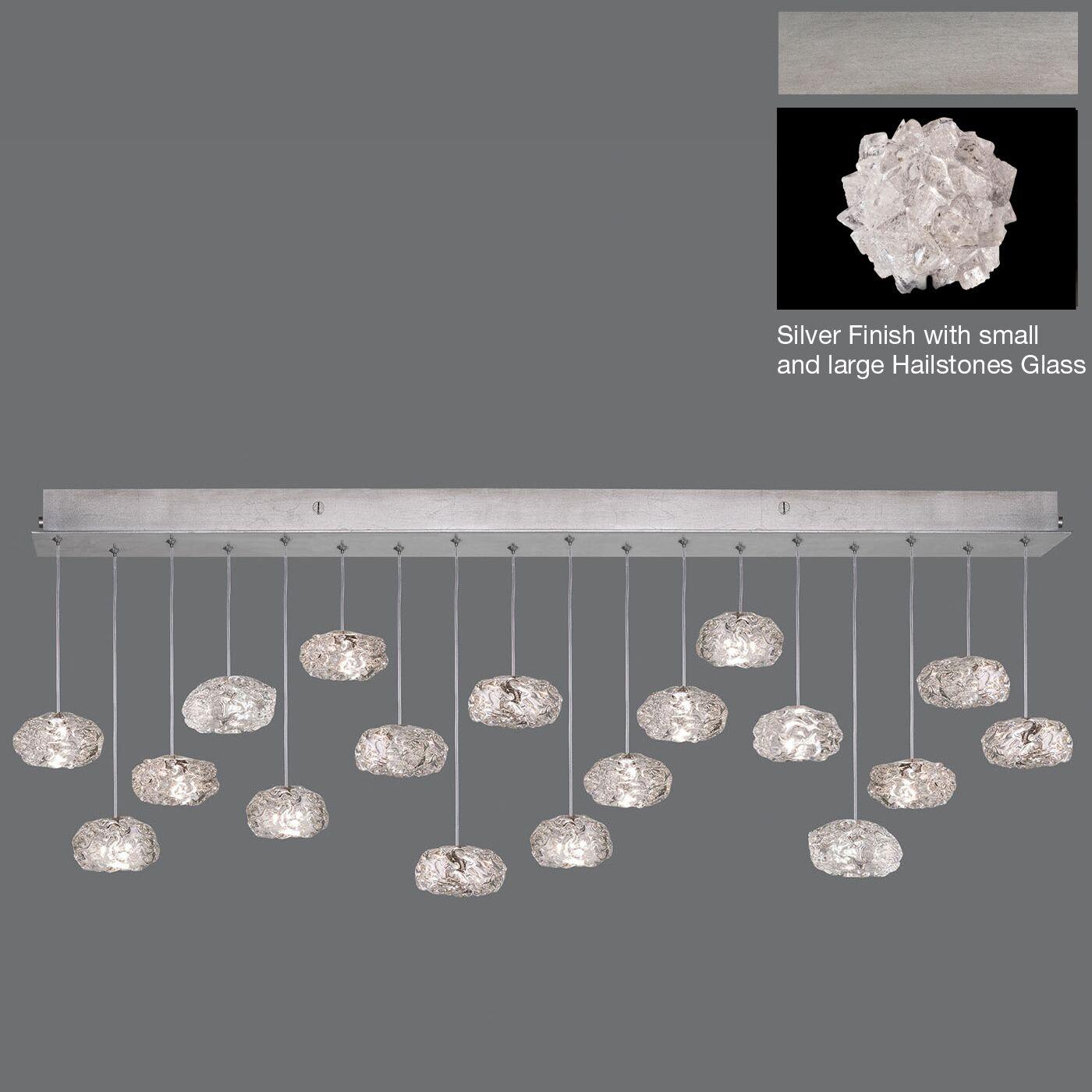 Natural Inspirations Drop 18-Light Cluster Pendant Finish: Silver