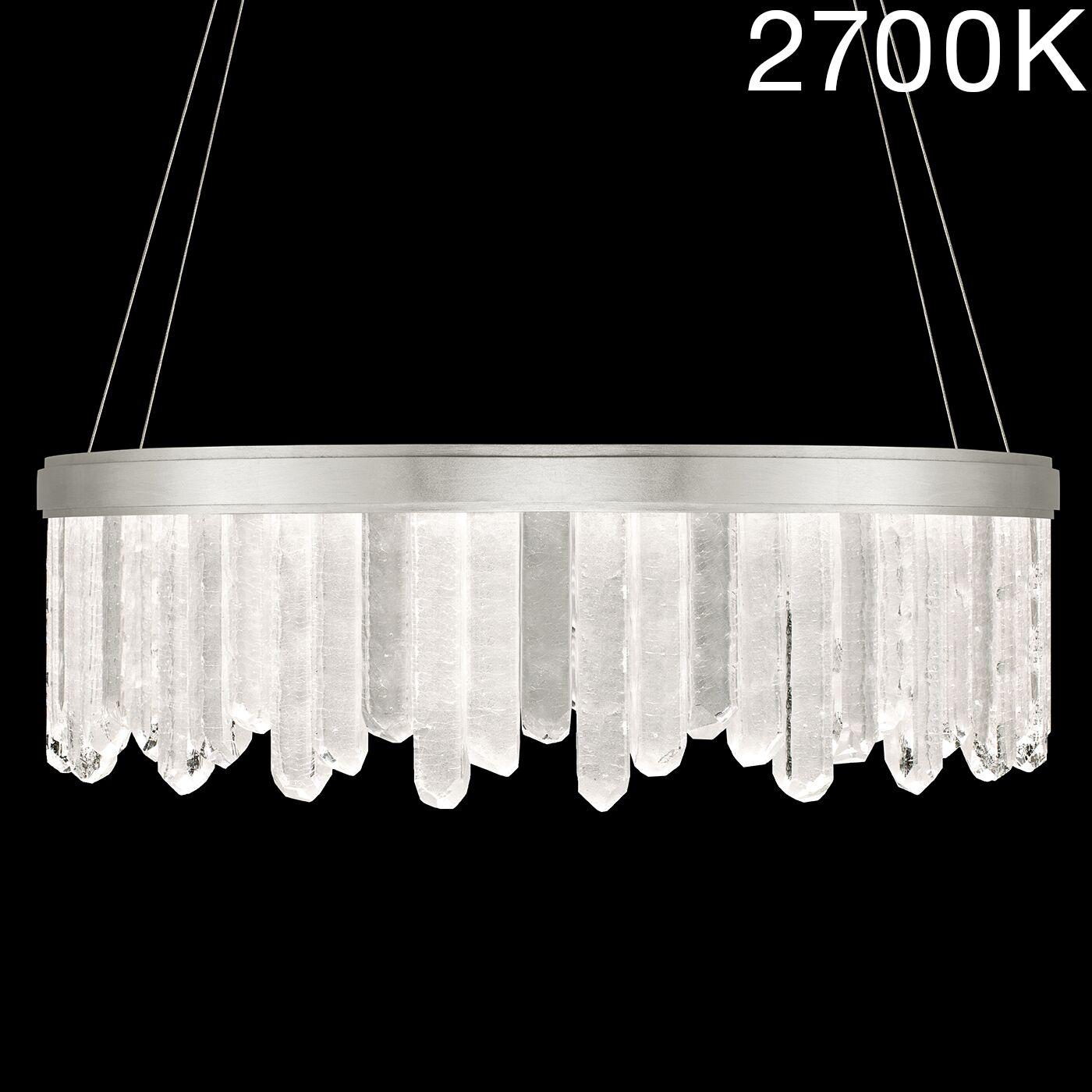 Lior Rock 24-Light Drum Chandelier Finish: Silver, Color Temperature: 2700