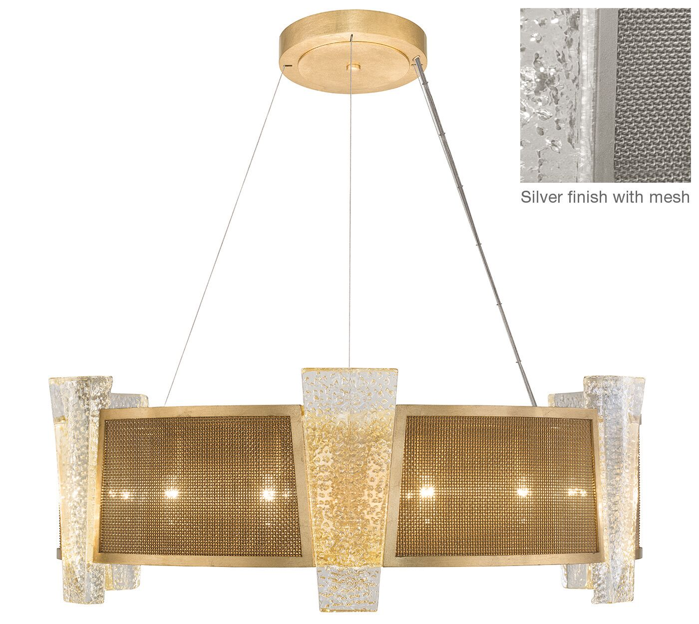 Crownstone 12-Light Chandelier Finish: Silver, Shade Material: Fabric