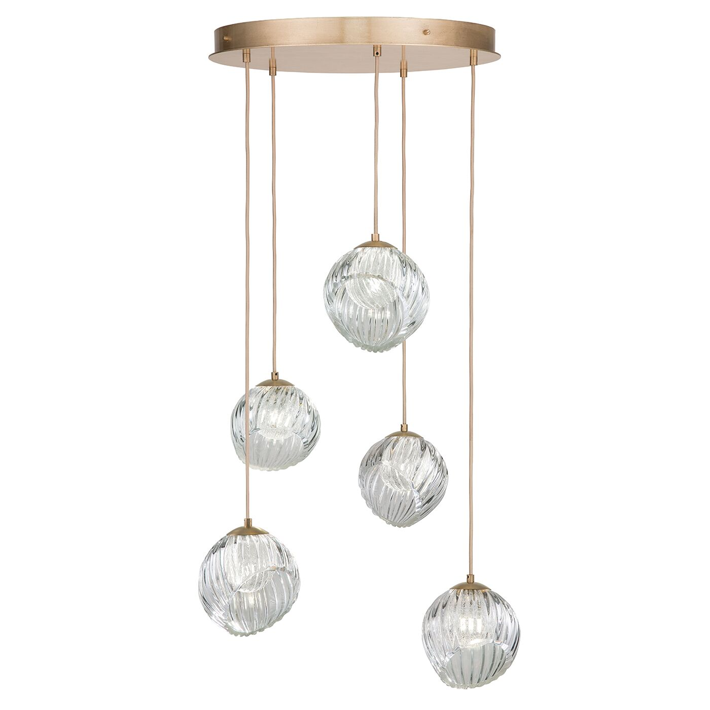 Nest 5-Light Cluster Pendant Finish: Gold
