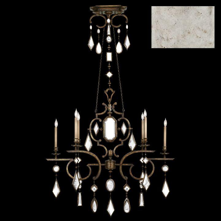 Encased Gems 6-Light Chandelier Crystal: Clear