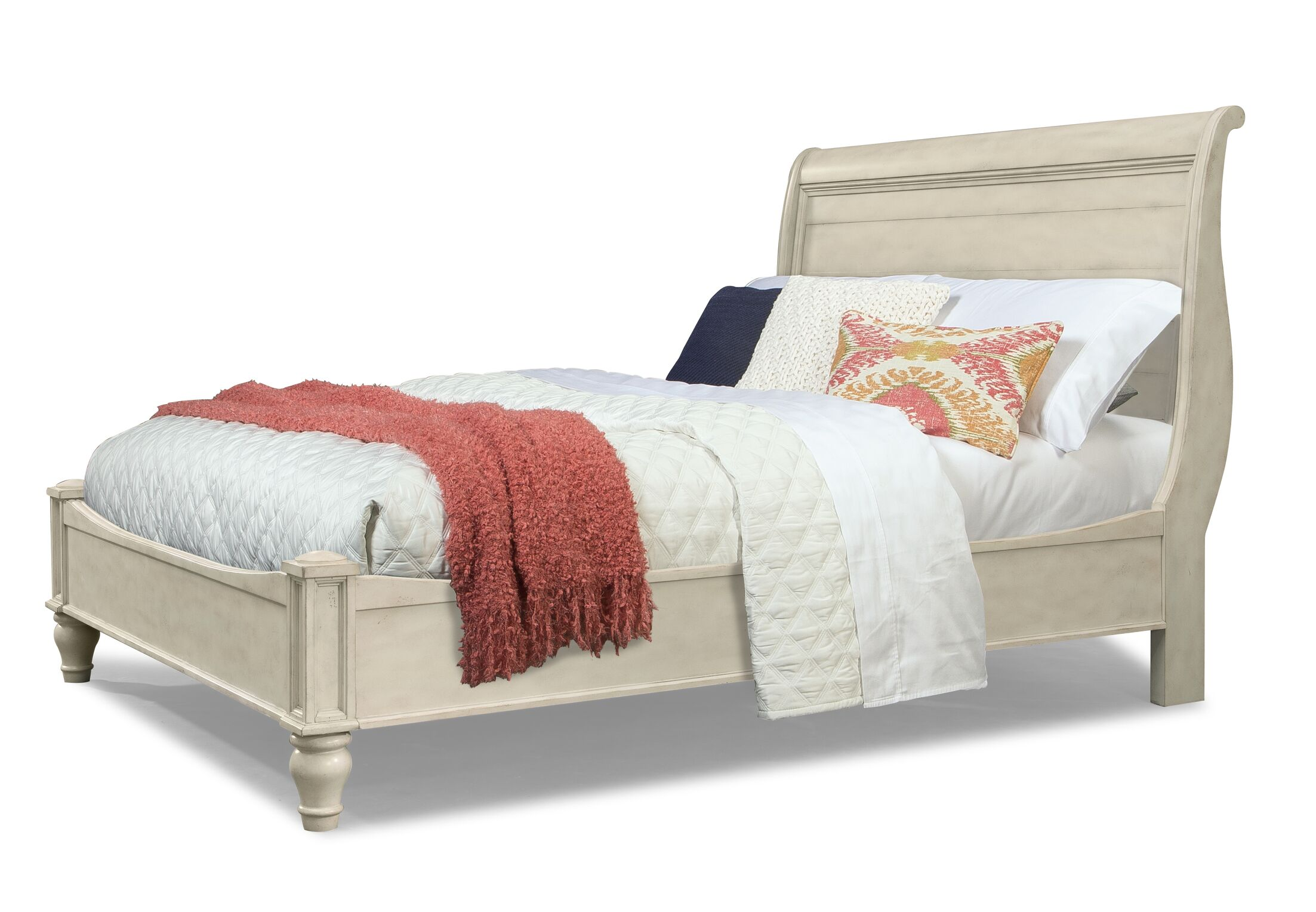 Allgood Wood Frame Sleigh Bed