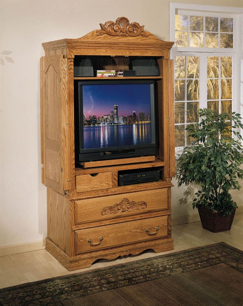 Lucie Large TV-Armoire Finish: Medium Wood