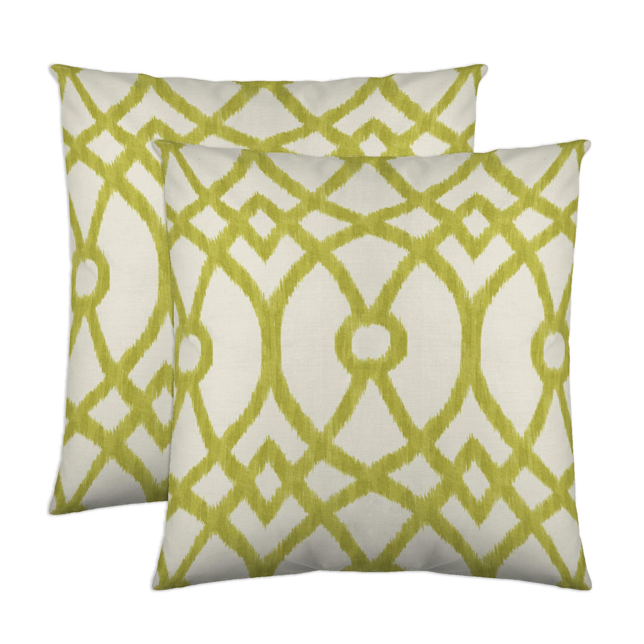 Piper Throw Pillow Color: Citrus