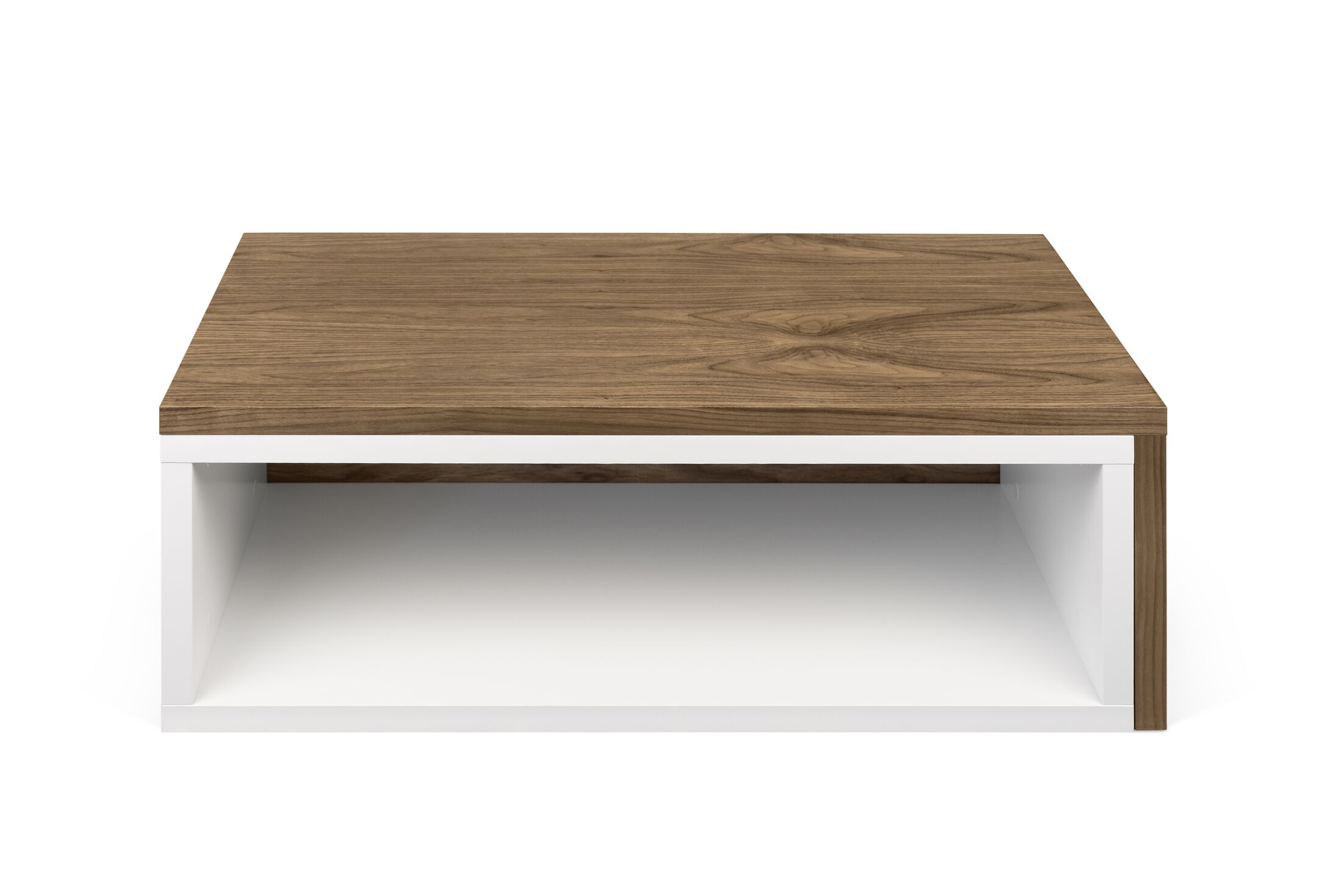 Jazz Coffee Table Top Color: Pure White / Walnut