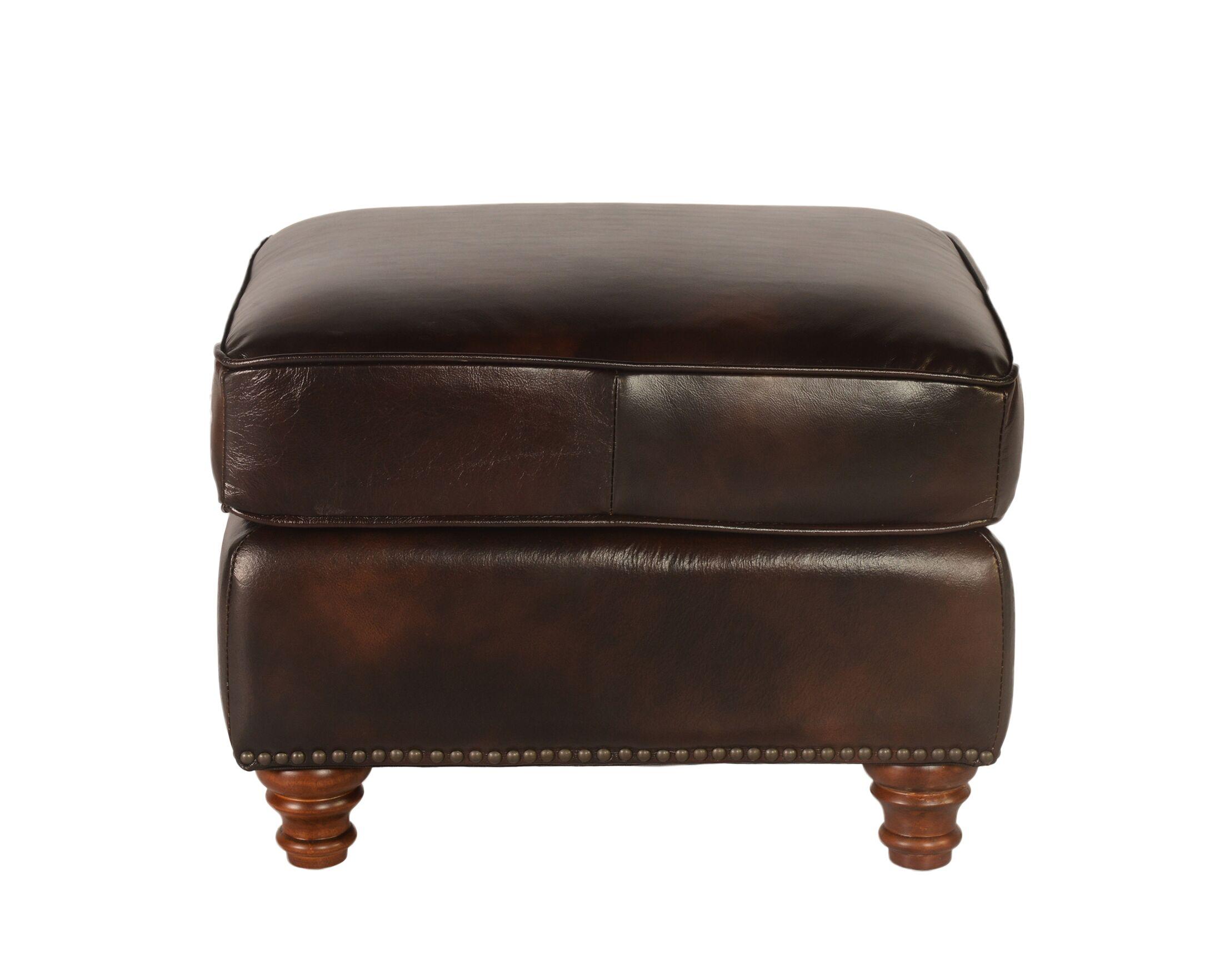 Century Leather Ottoman