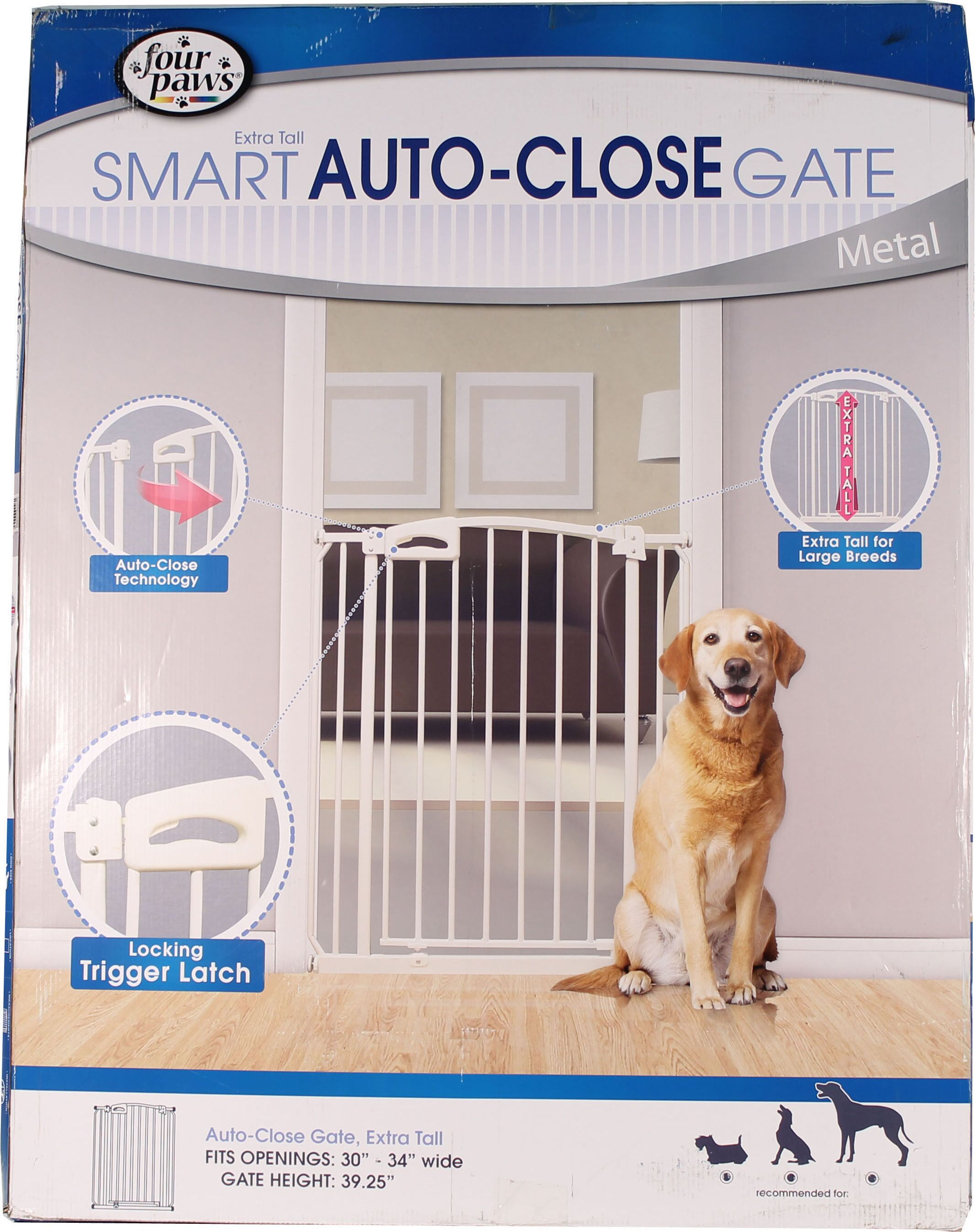 Extra Tall Auto Closing Metal Dog Gate