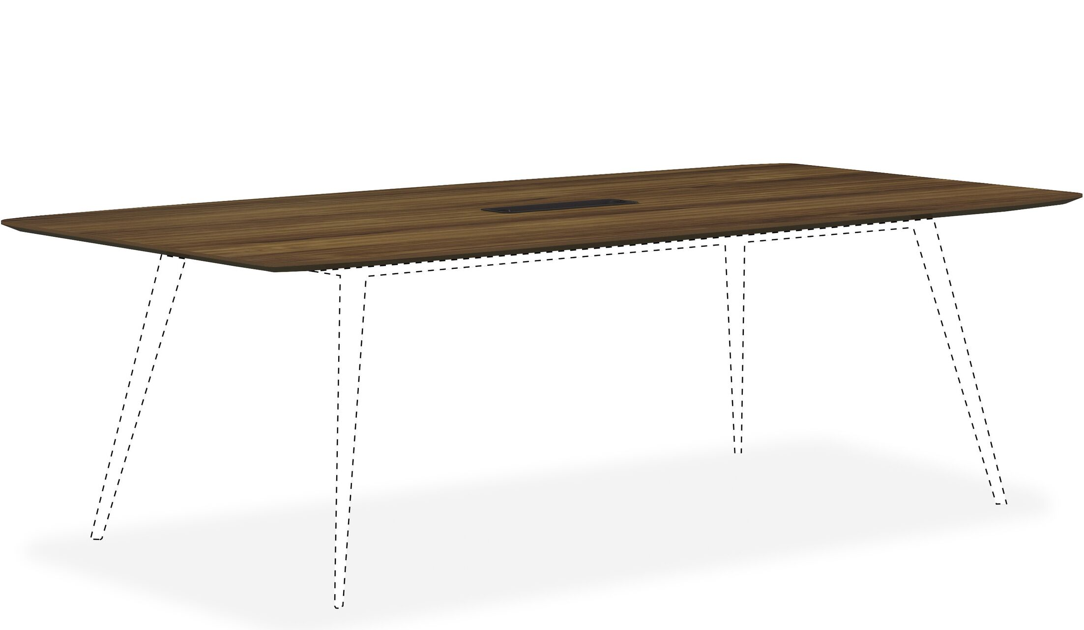 Mahogany Rectangular Conference Table Top Color: Latte