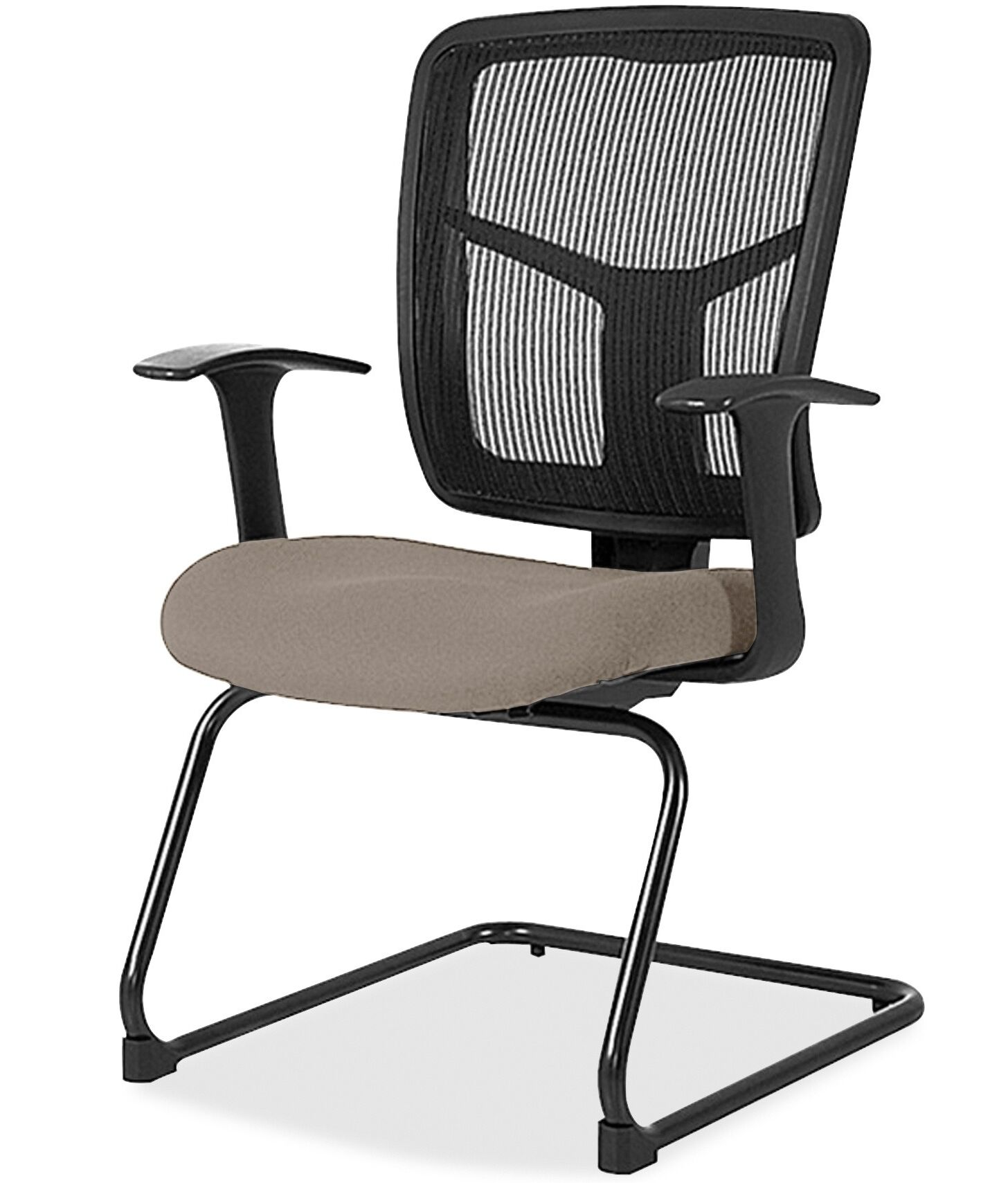 Adjustable Arms Mesh Guest Chair Seat Color: Brown