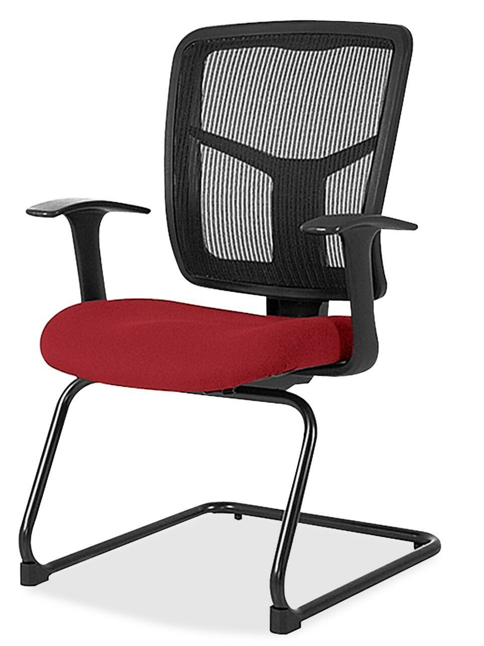 86000 Series Mesh Guest Chair Seat Color: Real Red