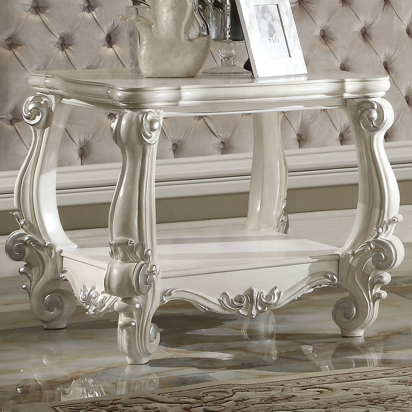 Welton End Table Color: Bone White
