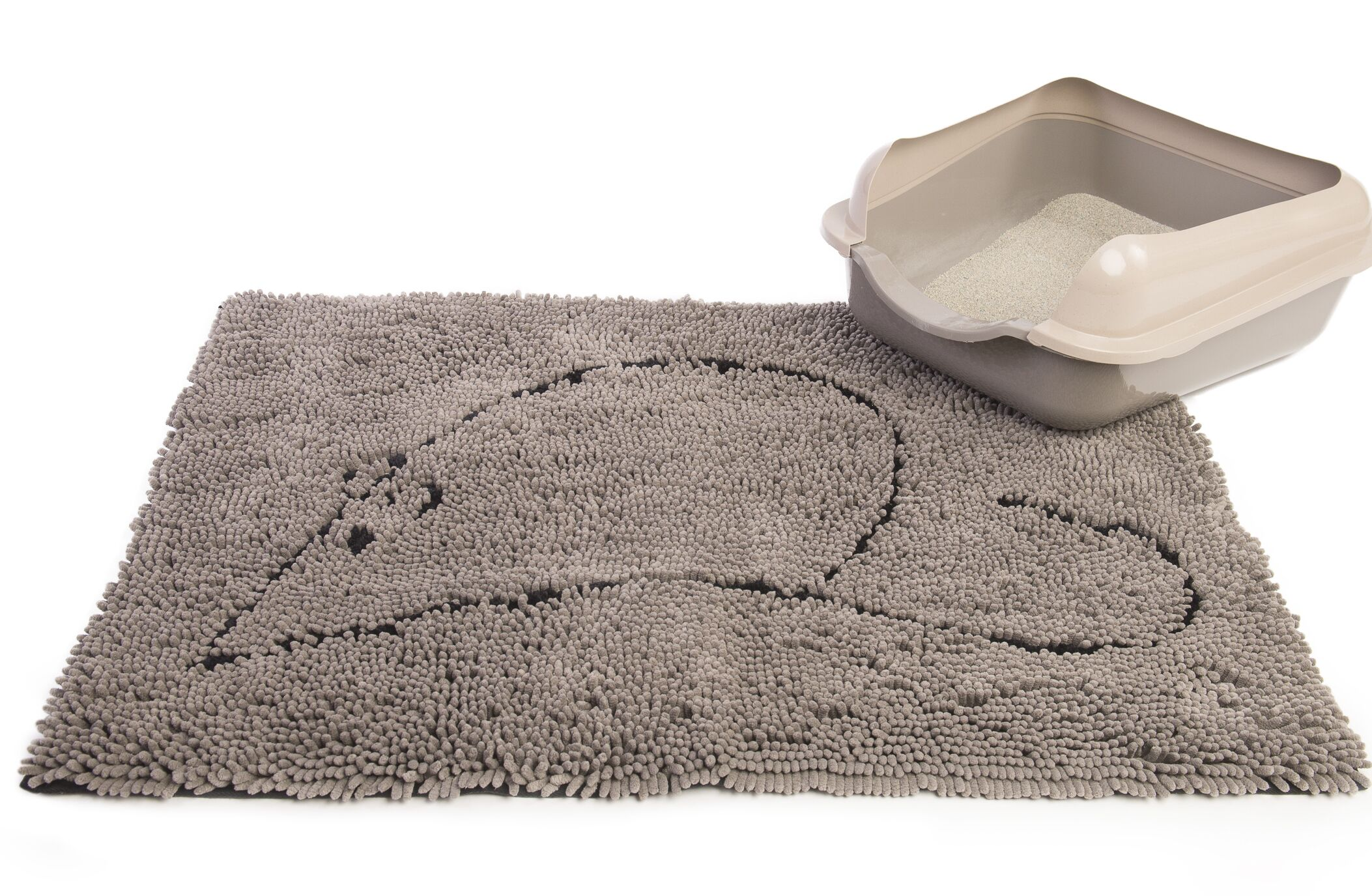 Cat Litter Mat Color: Gray