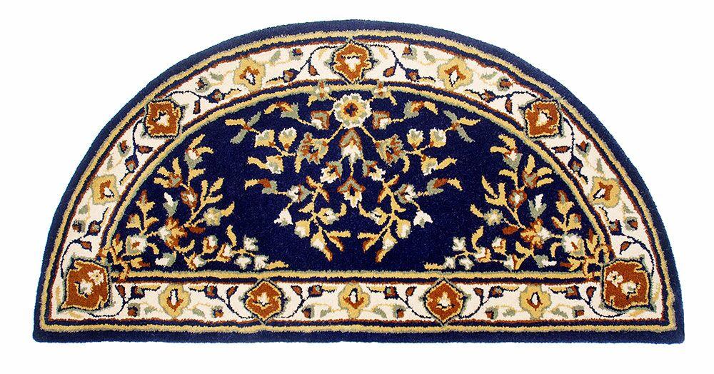 Hearth Oriental Handmade Wool Area Rug Color: Blue, Rug Size: 44