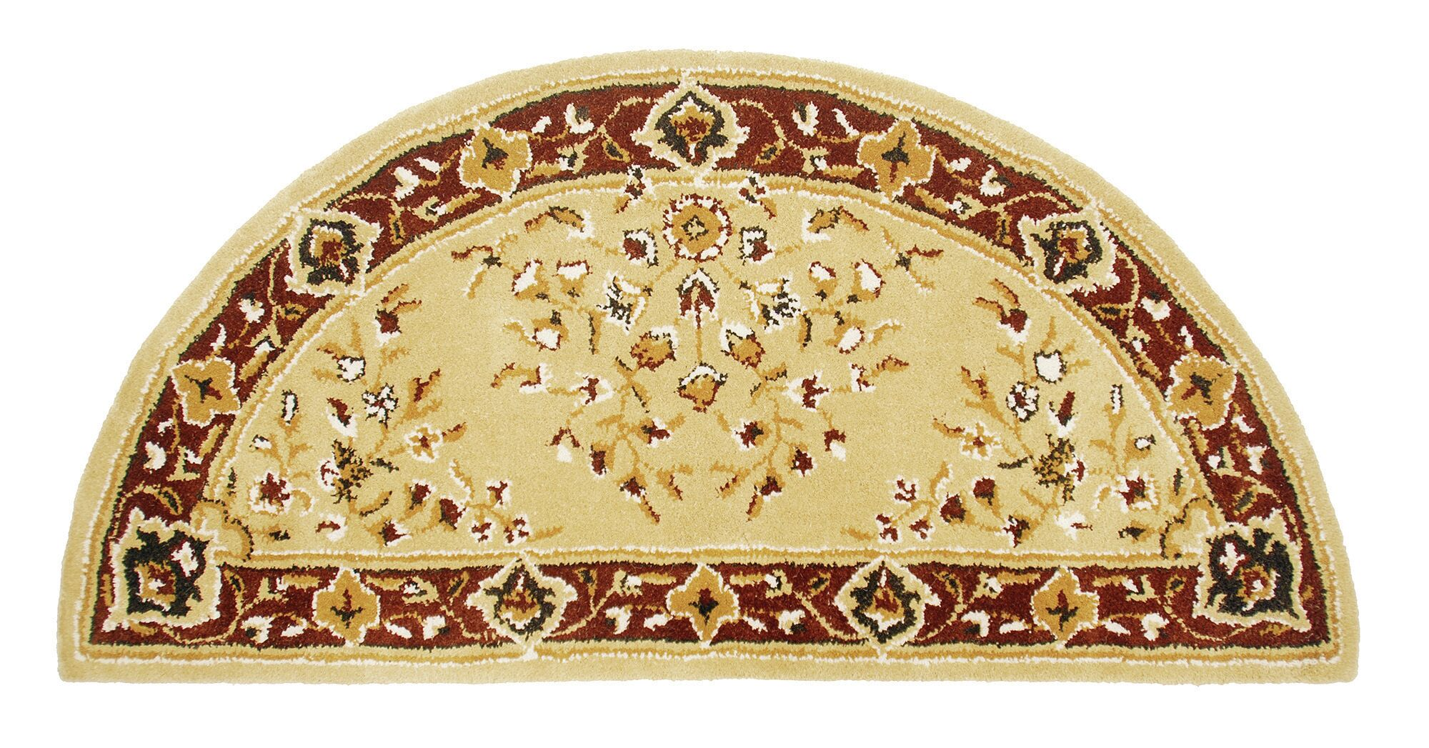 Hearth Oriental Handmade Wool Area Rug Color: Beige, Rug Size: 44