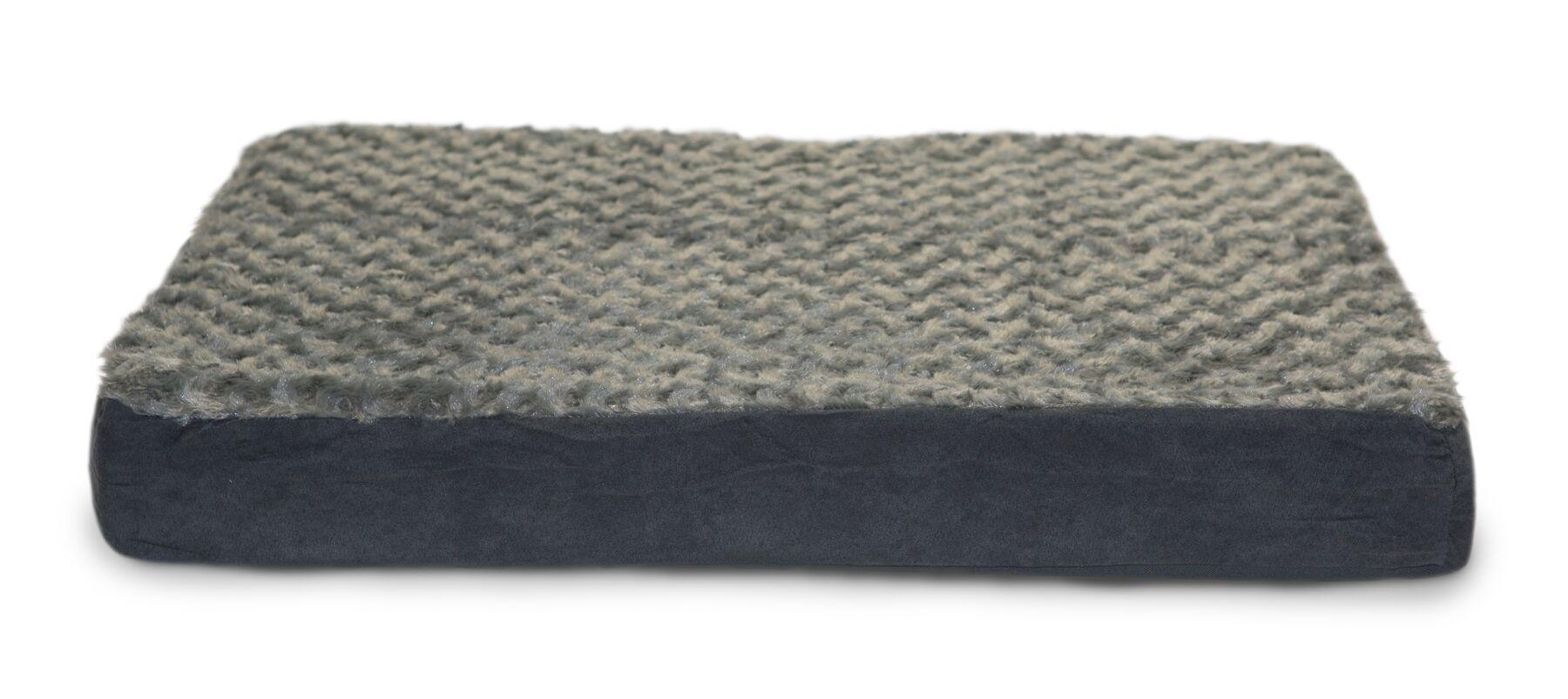 Boris Ultra Plush Cooling Gel Foam Pet Bed Color: Gray, Size: Medium