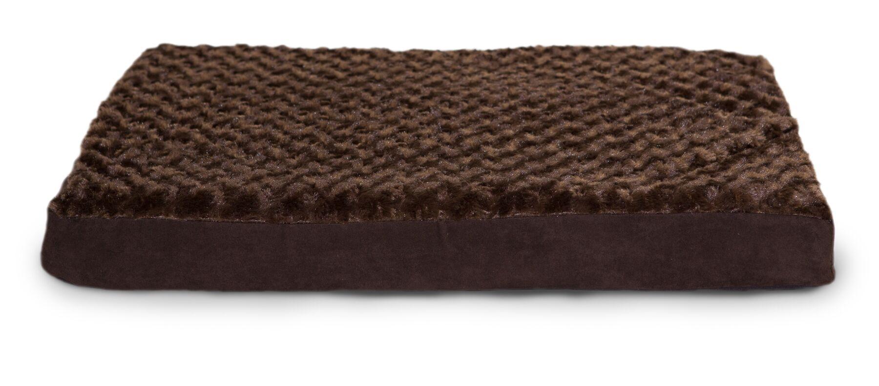 Boris Ultra Plush Cooling Gel Foam Pet Bed Color: Chocolate, Size: Extra Large