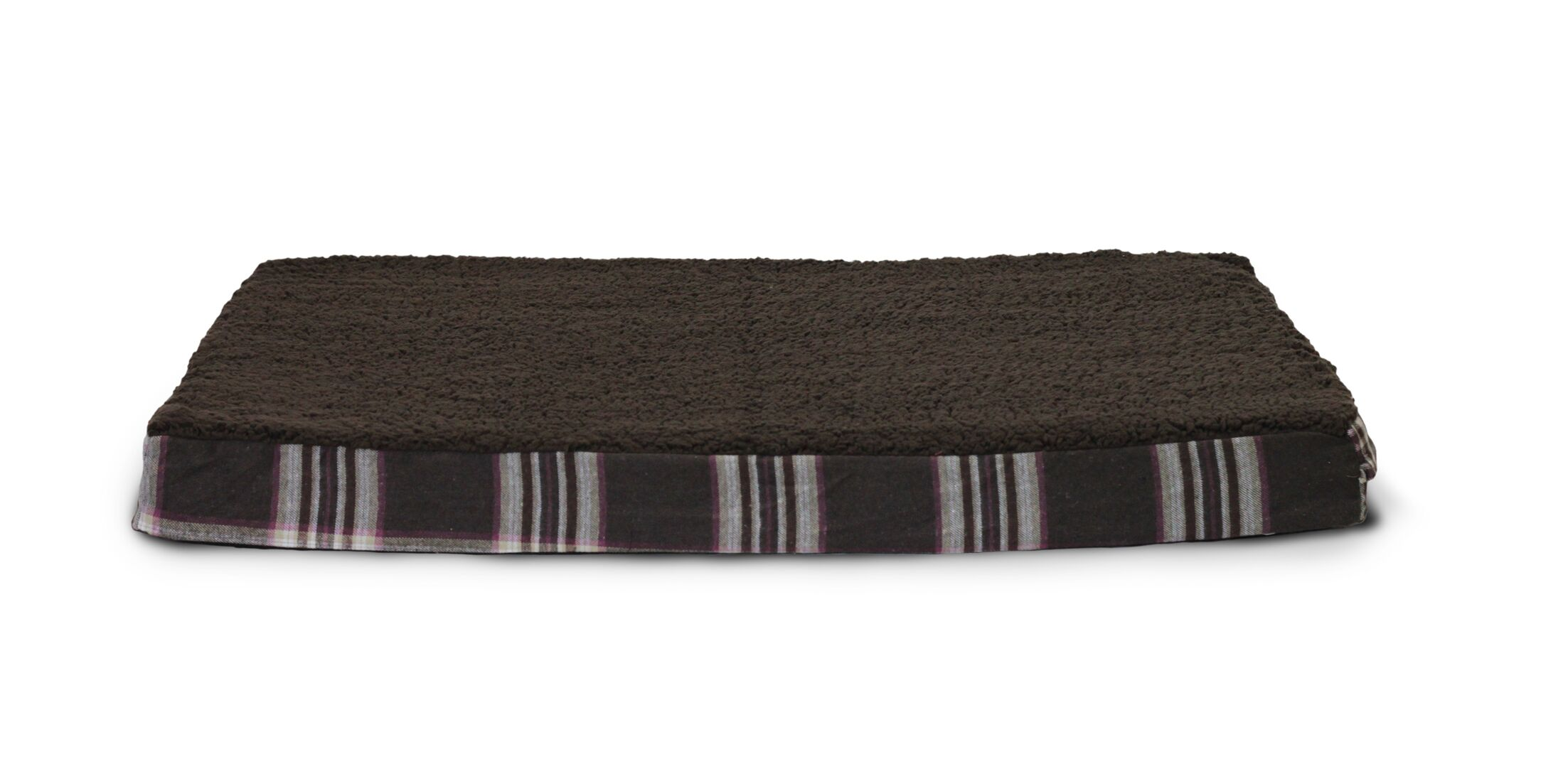 Evie Faux Sheepskin and Plaid Orthopedic Pet Bed Size: Large - 36