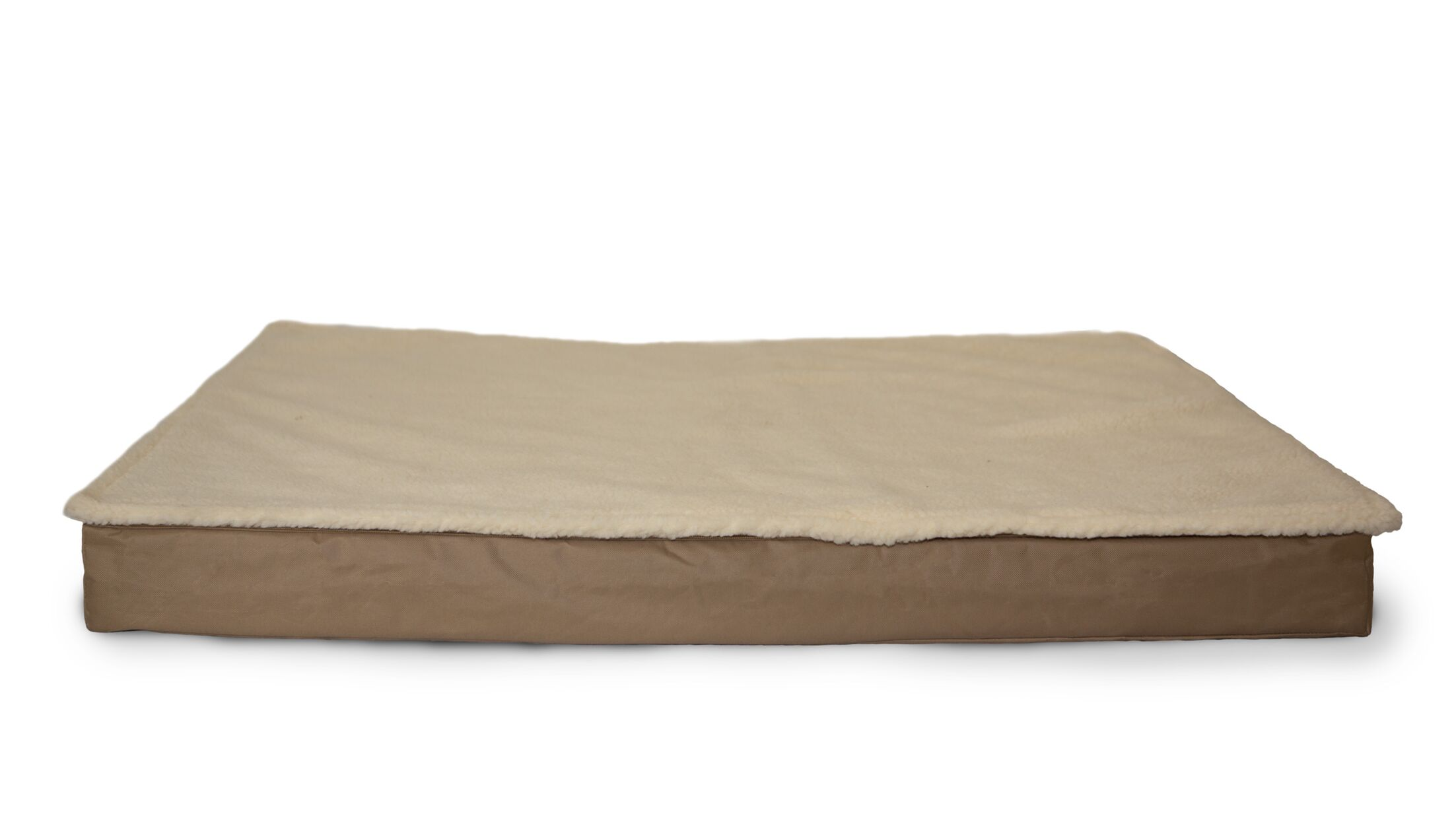 Etta Deluxe Outdoor Memory Foam Dog Bed with Removable Cover Color: Sand, Size: Large (36