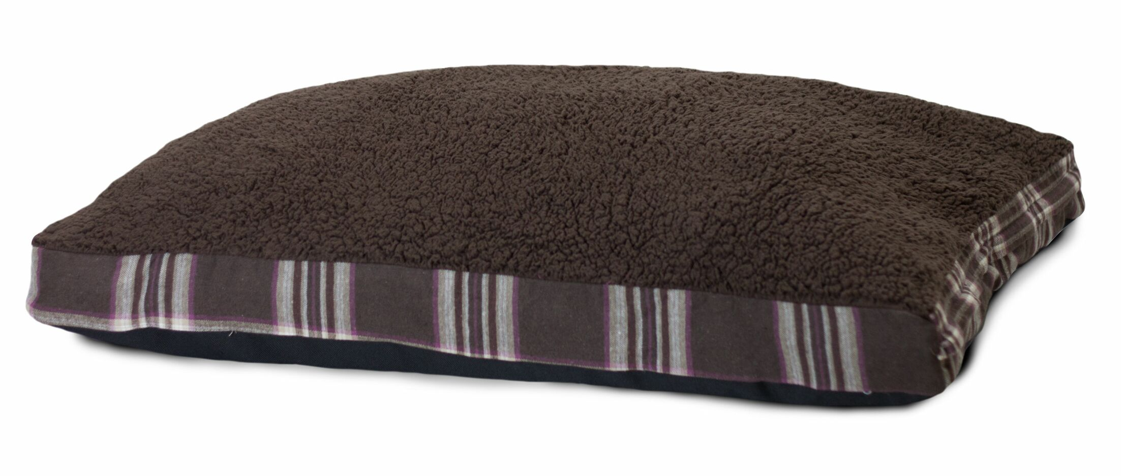 Evie Faux Sheepskin and Plaid Deluxe Dog Pillow Size: Medium - 30