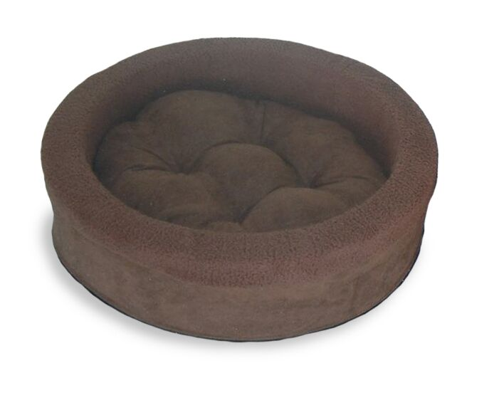 Neary Lounger Dog or Cat Bed Cuddler Color: Espresso