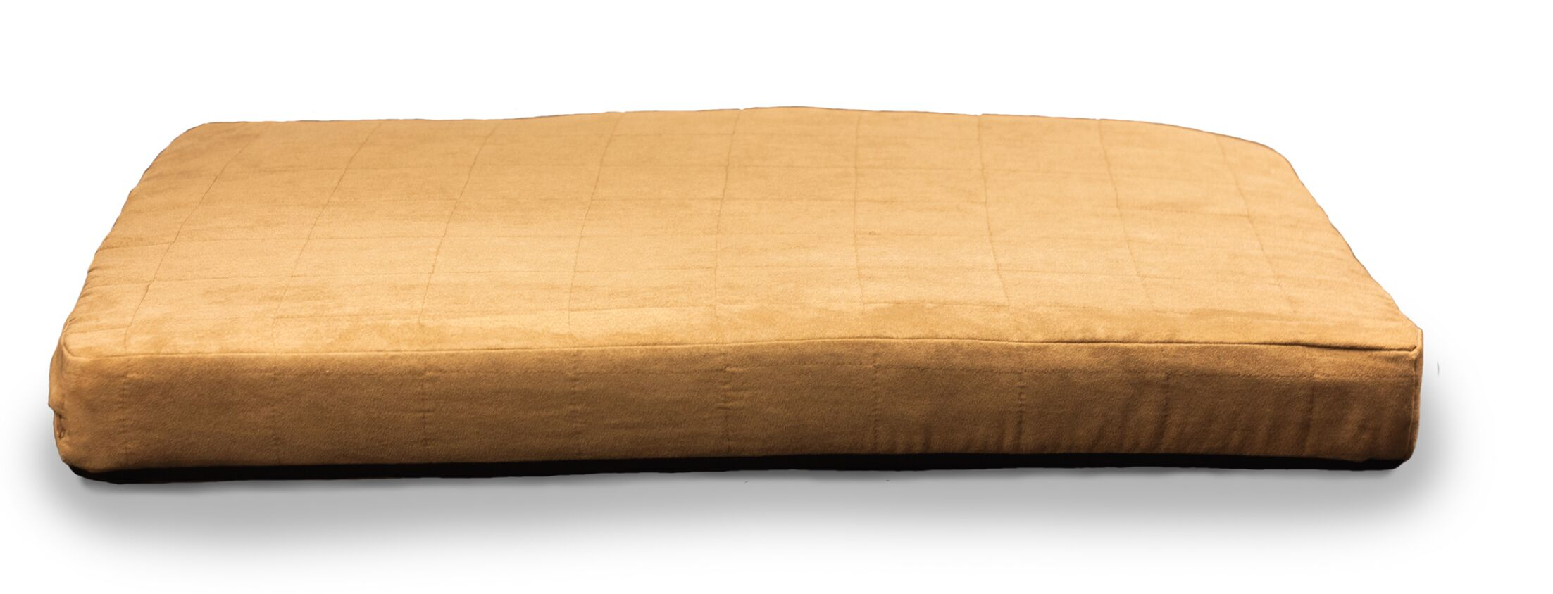 Quilted Suede Memory Foam Dog Bed Color: Camel, Size: Large (44