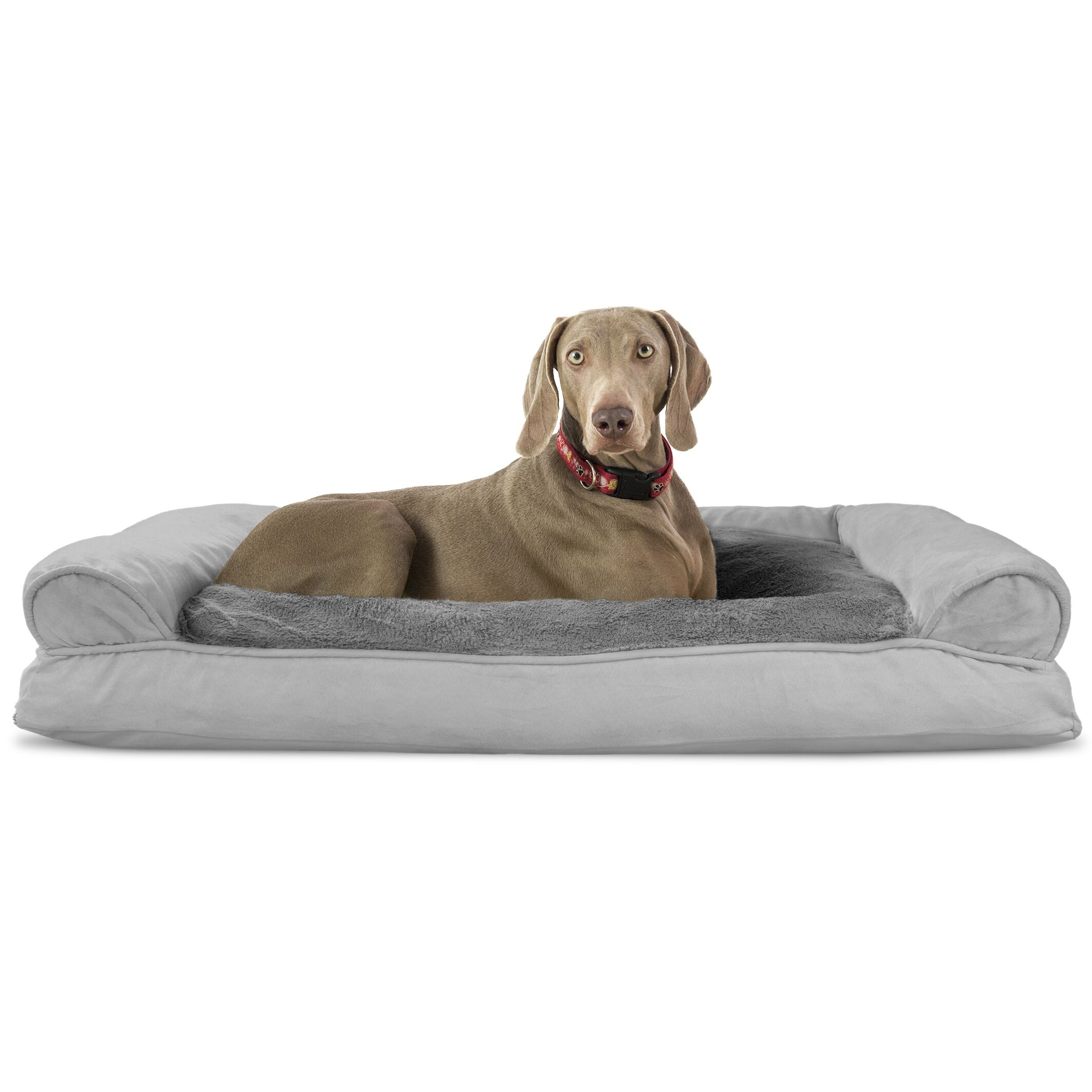 Flash Dog Bolster Color: Gray, Size: 10