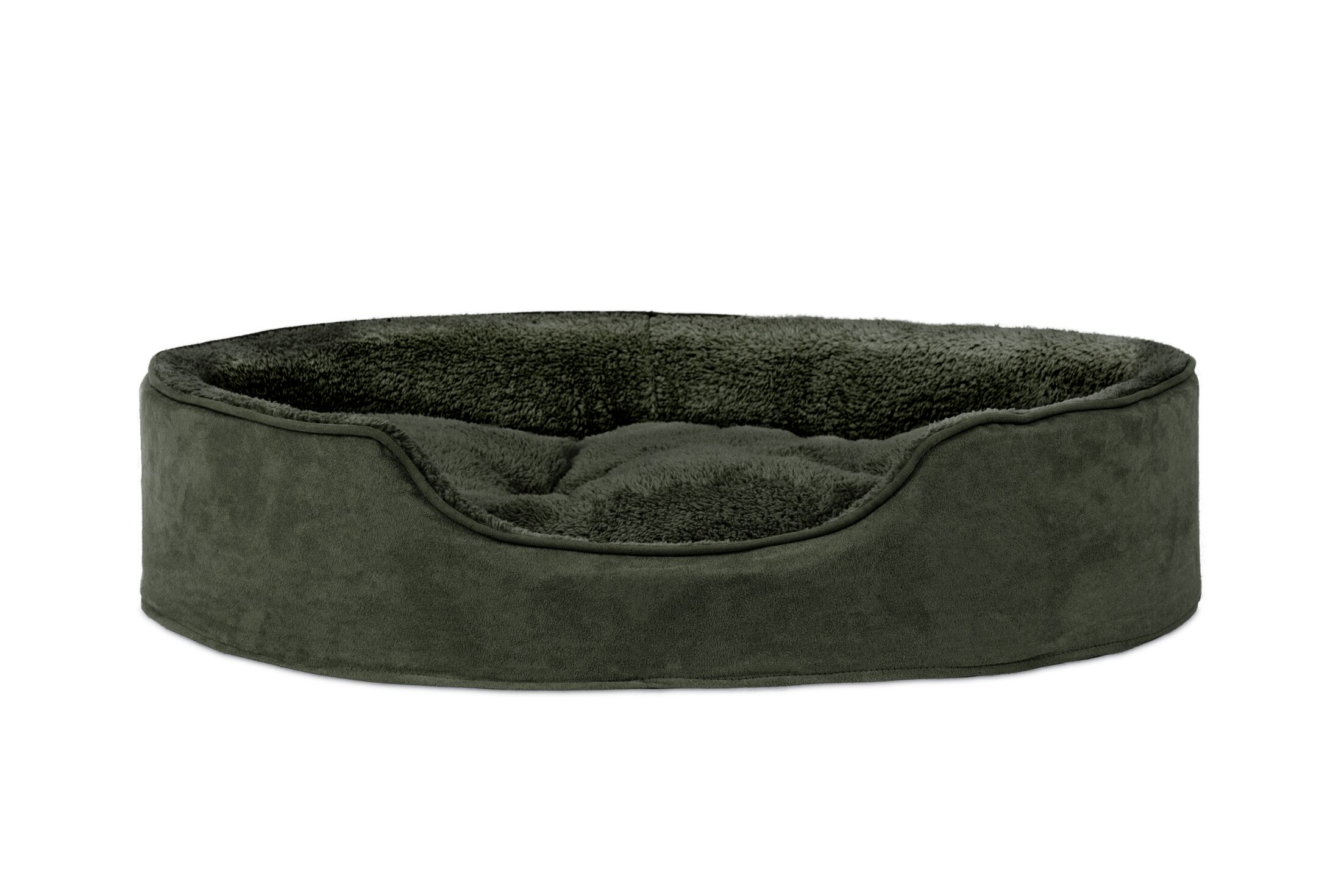 Evie Terry & Suede Pet Bed Size: X-Large (30
