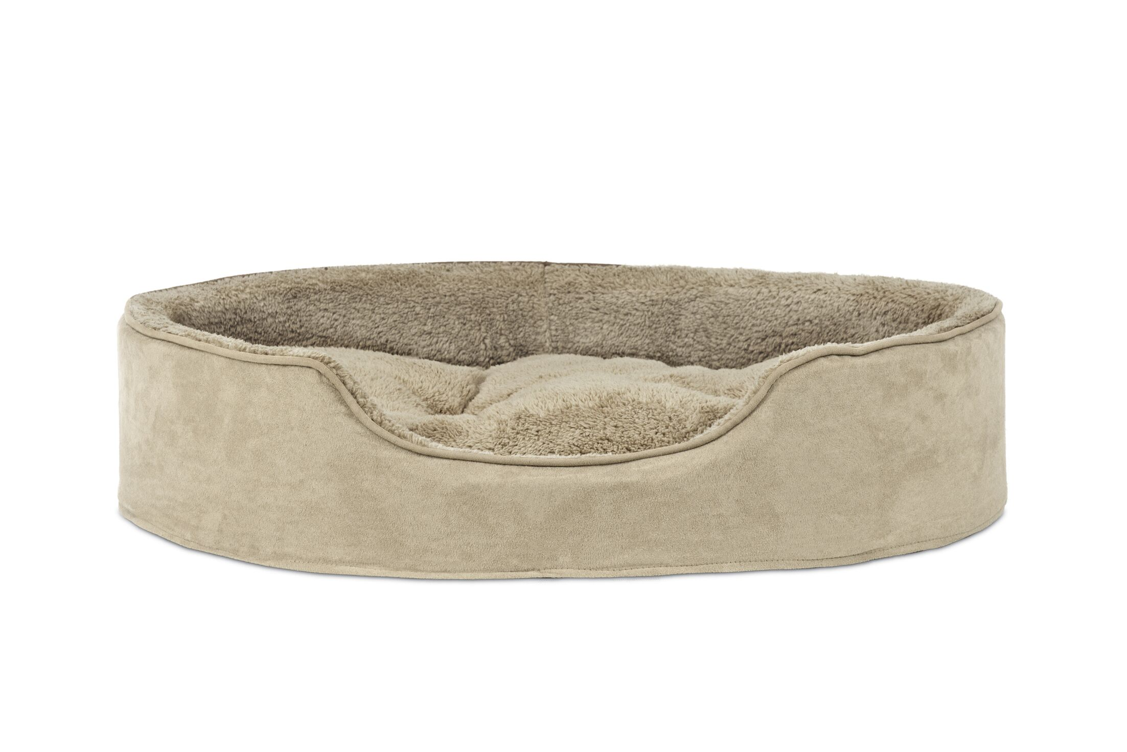 Evie Terry & Suede Pet Bed Color: Clay, Size: Jumbo (42