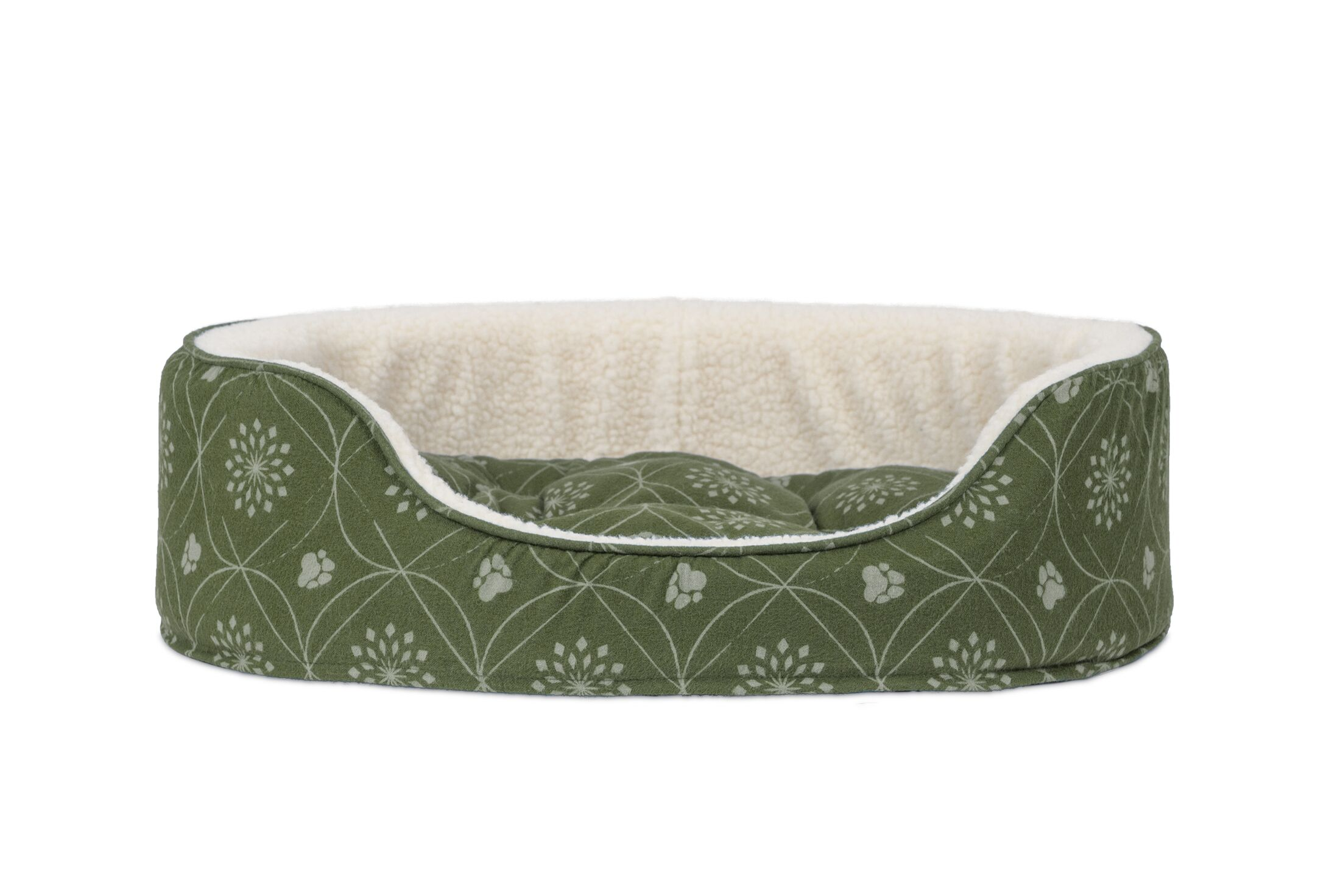 Cassidy D�cor Flannel Oval Dog Sofa with Removable Cover Size: Small, Color: Jade Green