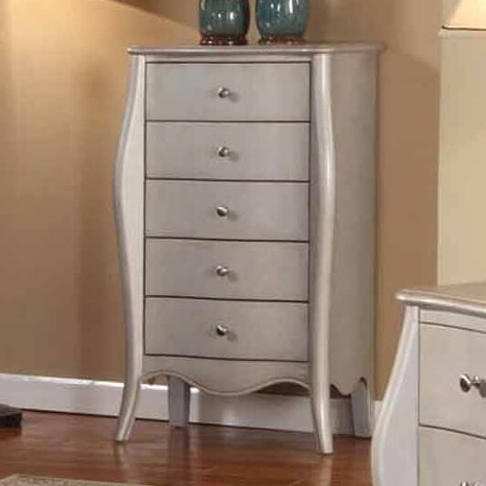 Jewelry Armoire Color: Silver
