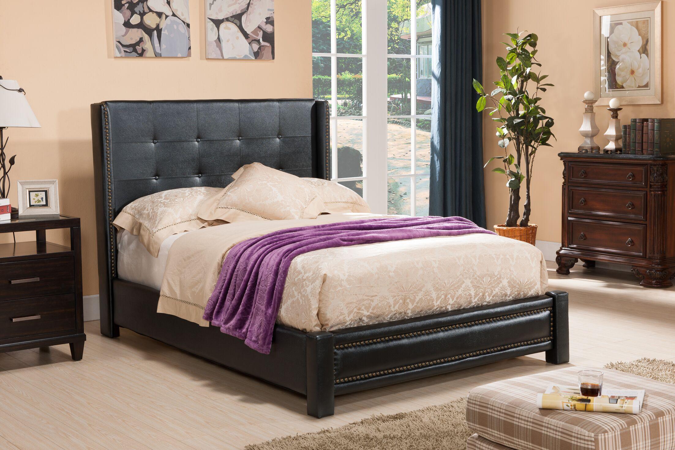 Upholstered Platform Bed Size: King, Color: Black