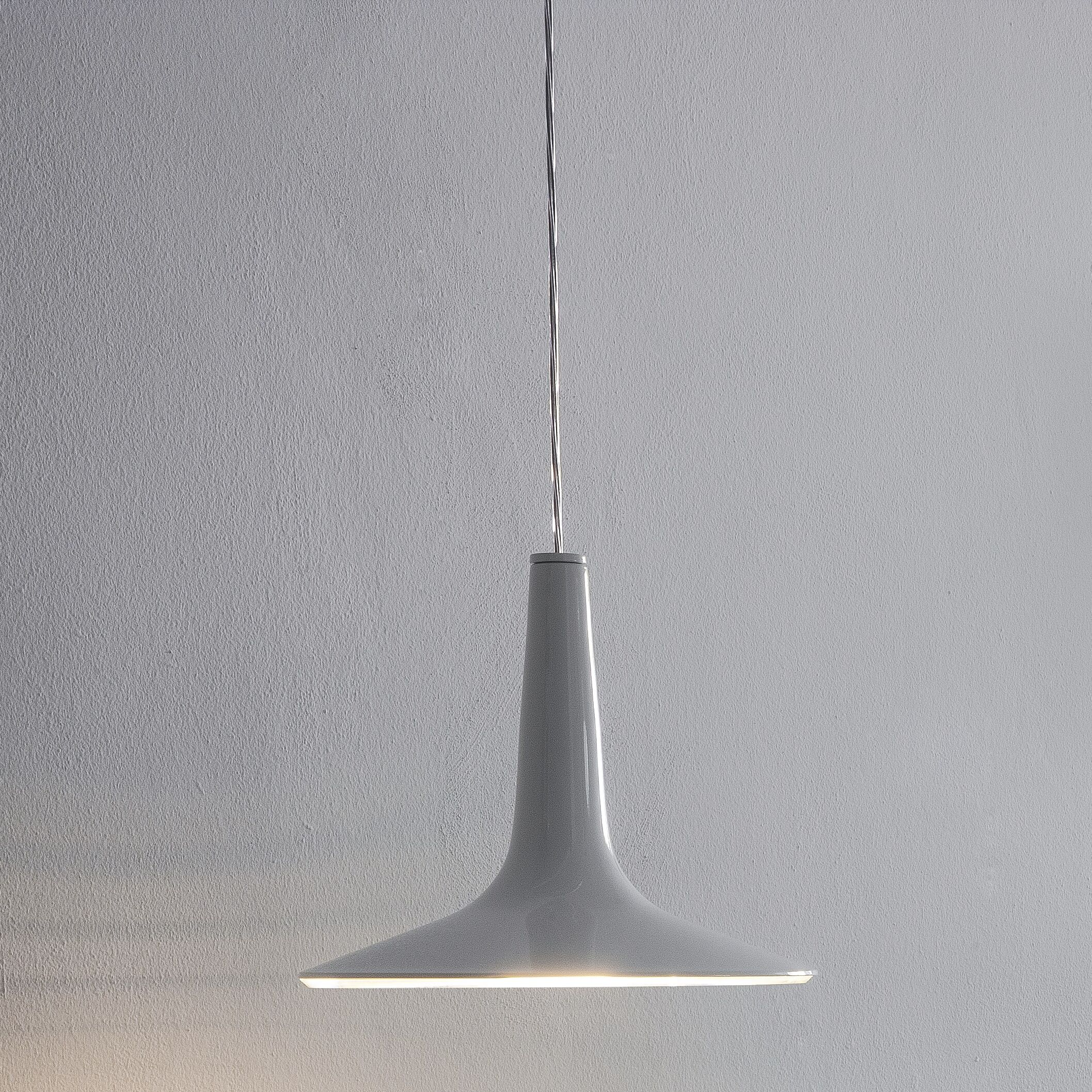 Kin 1-Light Cone Pendant Shade Color: White