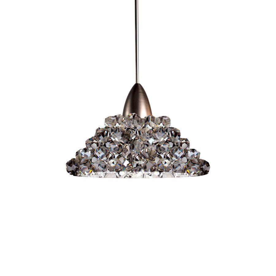 Giselle Monopoint 1-Light Cone Pendant Shade Color: Black Ice, Finish: Chrome